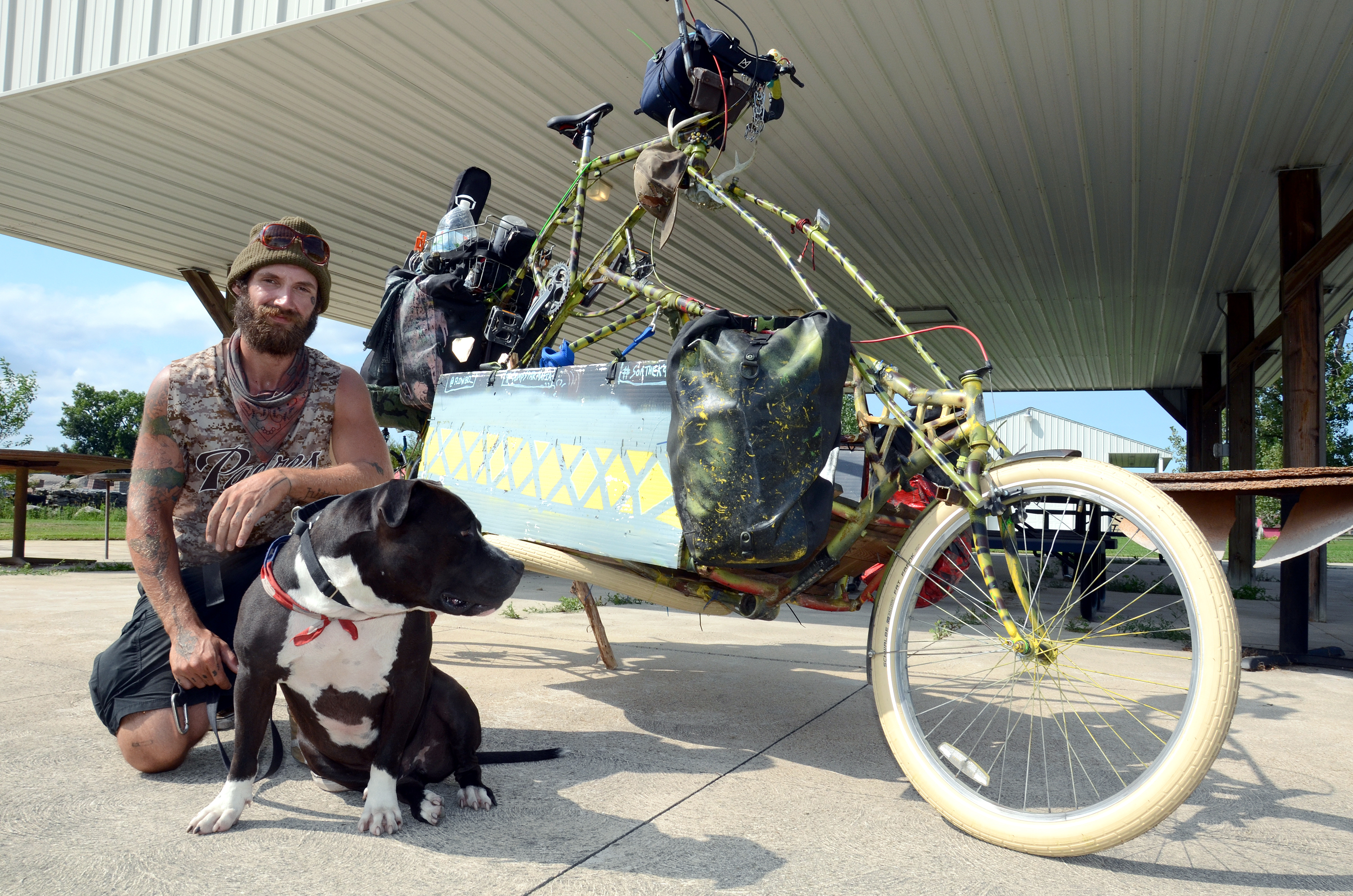 Chase Clements with his dog Sonny. (Press photo by Ken Grosjean)
