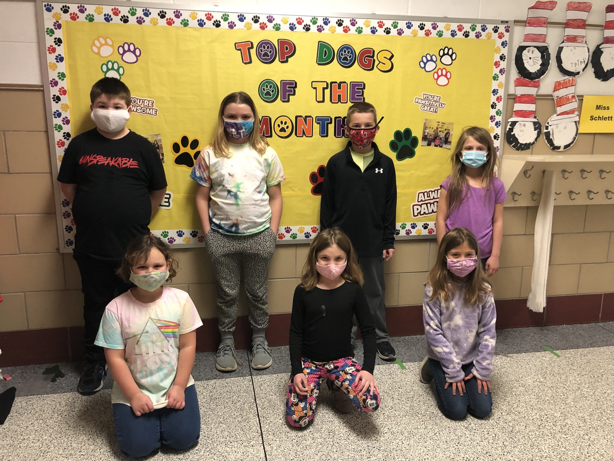 R.C. Waters second-grade top Class Dojo winners for the month of February include (back left to right) Christopher Gackstetter, London Tenney, Blake Martin, and Shelby Cook; (front left to right) Willow Denman, Cora Kapp, and Carrie Gahler. (Submitted photo)