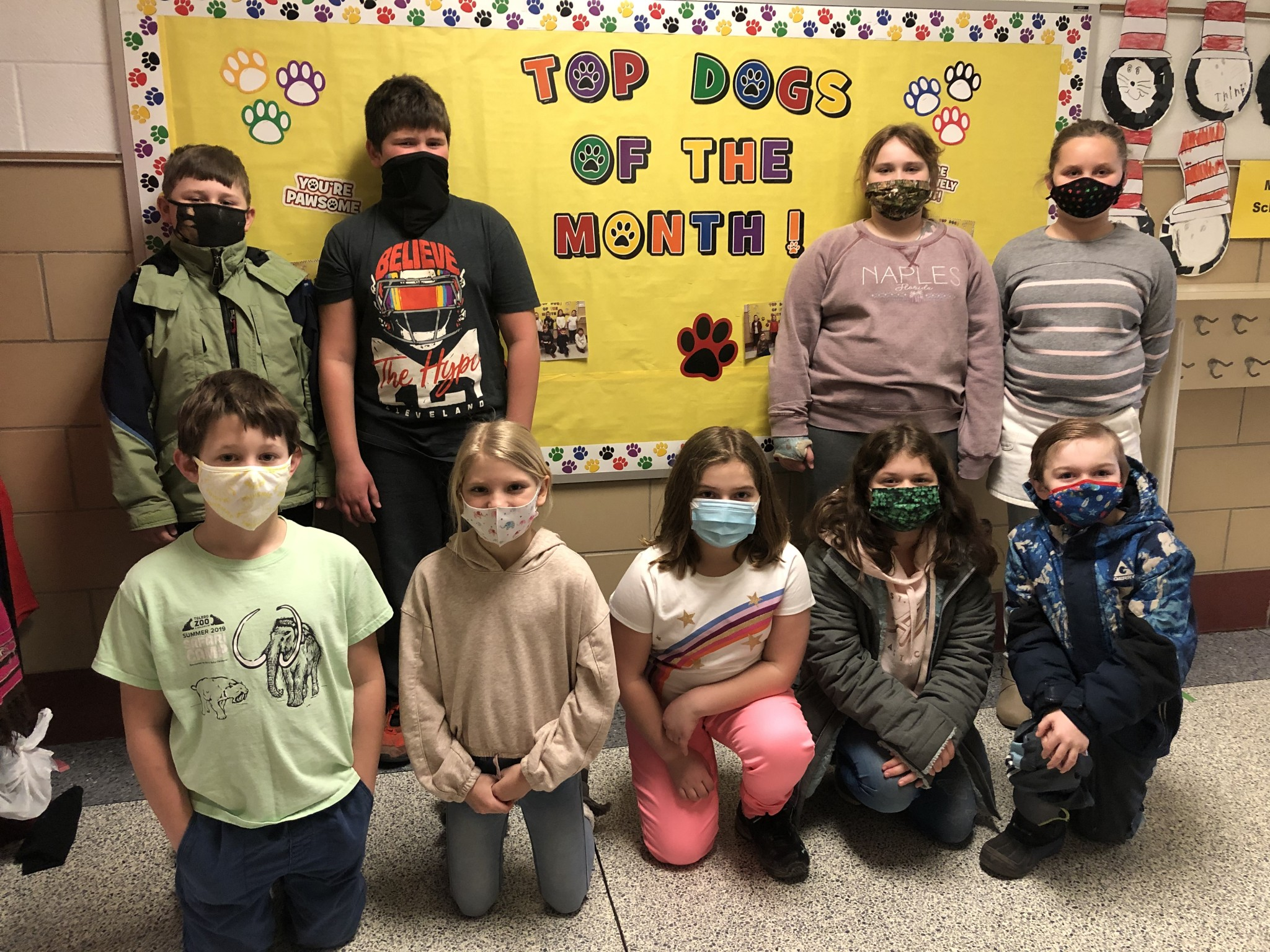 R.C. Waters third-grade top Class Dojo winners for the month of February include (back left to right) Jack Crawford, Greyson Leist, Erica Biggert, and Stella Laughlin; (front left to right) Tommy Revenaugh, Harper Schultz, Hailey Stoops. Rhiley Cover, and Jethro Duez. (Not pictured: Kasen Heminger.) (Submitted photo)