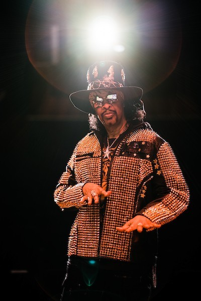 Rock & Roll Hall of Famer and global funk superstar Bootsy Collins joined Ohio Secretary of State Frank LaRose and others at an Oct. 13 event sponsored by AARP Ohio to inform voters age 50+ about options to vote safely in the 2020 Election. (Photo by Nick Presniakov)