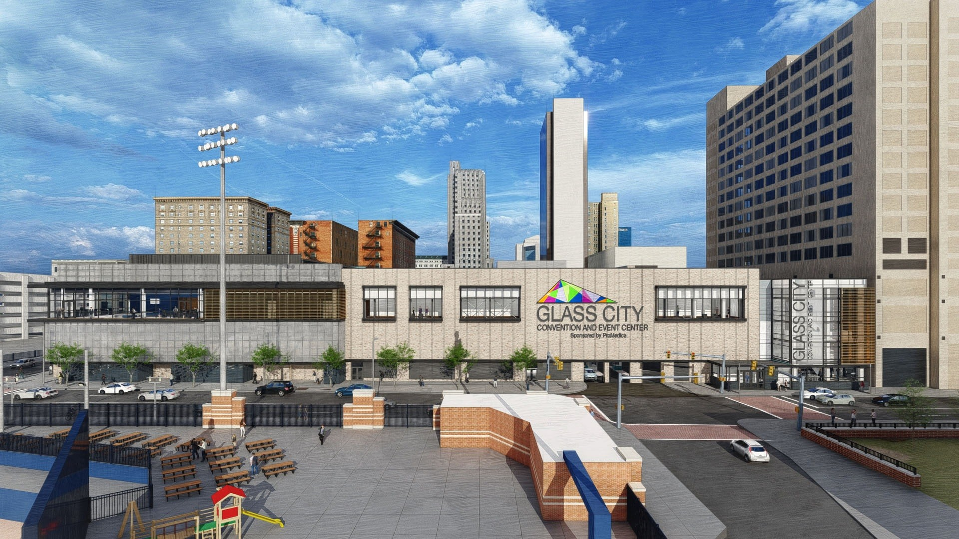 As an acknowledgment of ProMedica's early commitment to the redevelopment of the SeaGate Convention Centre, the Toledo-Lucas County Convention and Visitor's Bureau granted ProMedica the exclusive right to name the convention center, which will be renamed Glass City Convention and Event Center. (Photo courtesy of ProMedica)
