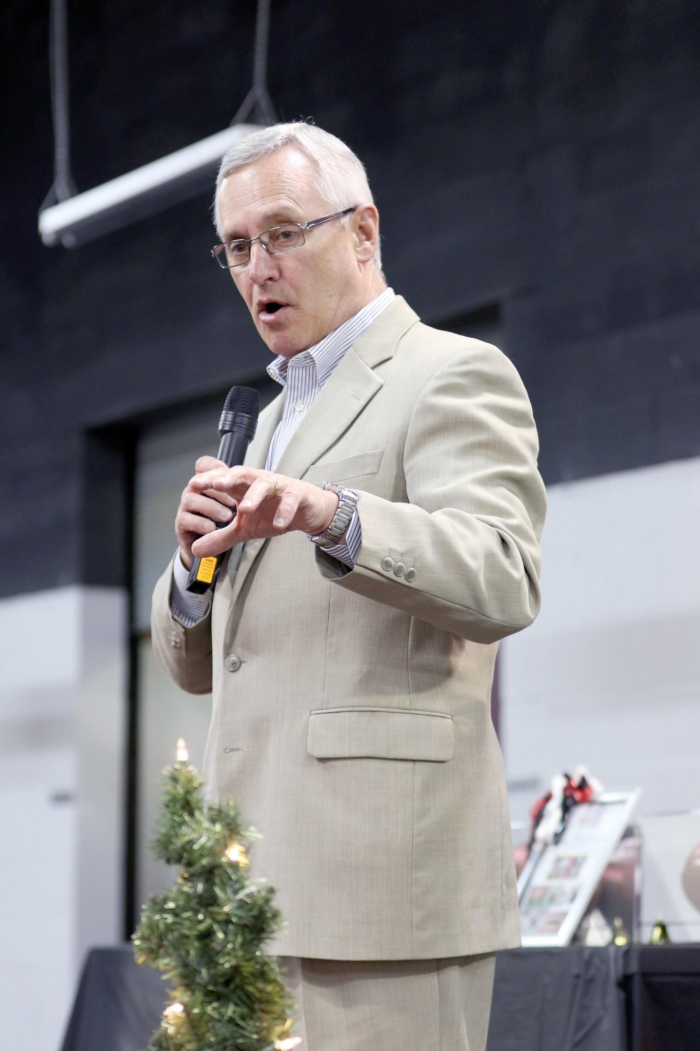 Youngstown State University President Jim Tressel. (Press file photo by Doug Hise)