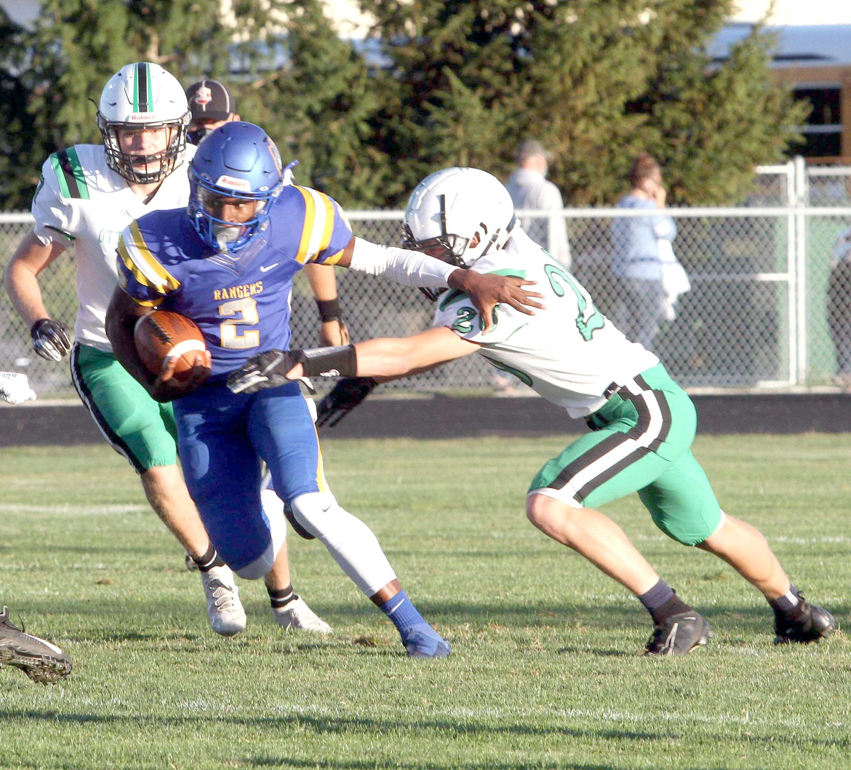 "Northwood senior quarterback Jay Moten (2). (Press photo by Don Thompson/<a href=""http://www.Facebook.com/DNRSport"">www.Facebook.com/DNRSport</a>)"