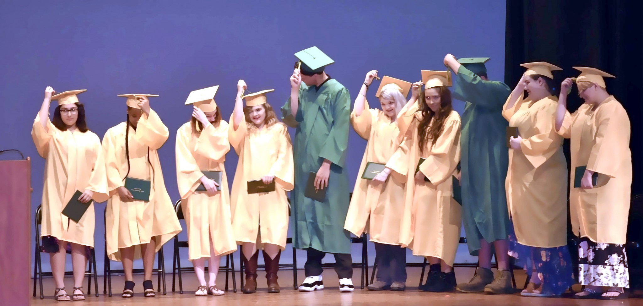Oregon Eagle Learning Center celebrated a record number of graduates at 2019 commencement ceremonies held May 30. (Submitted photo)