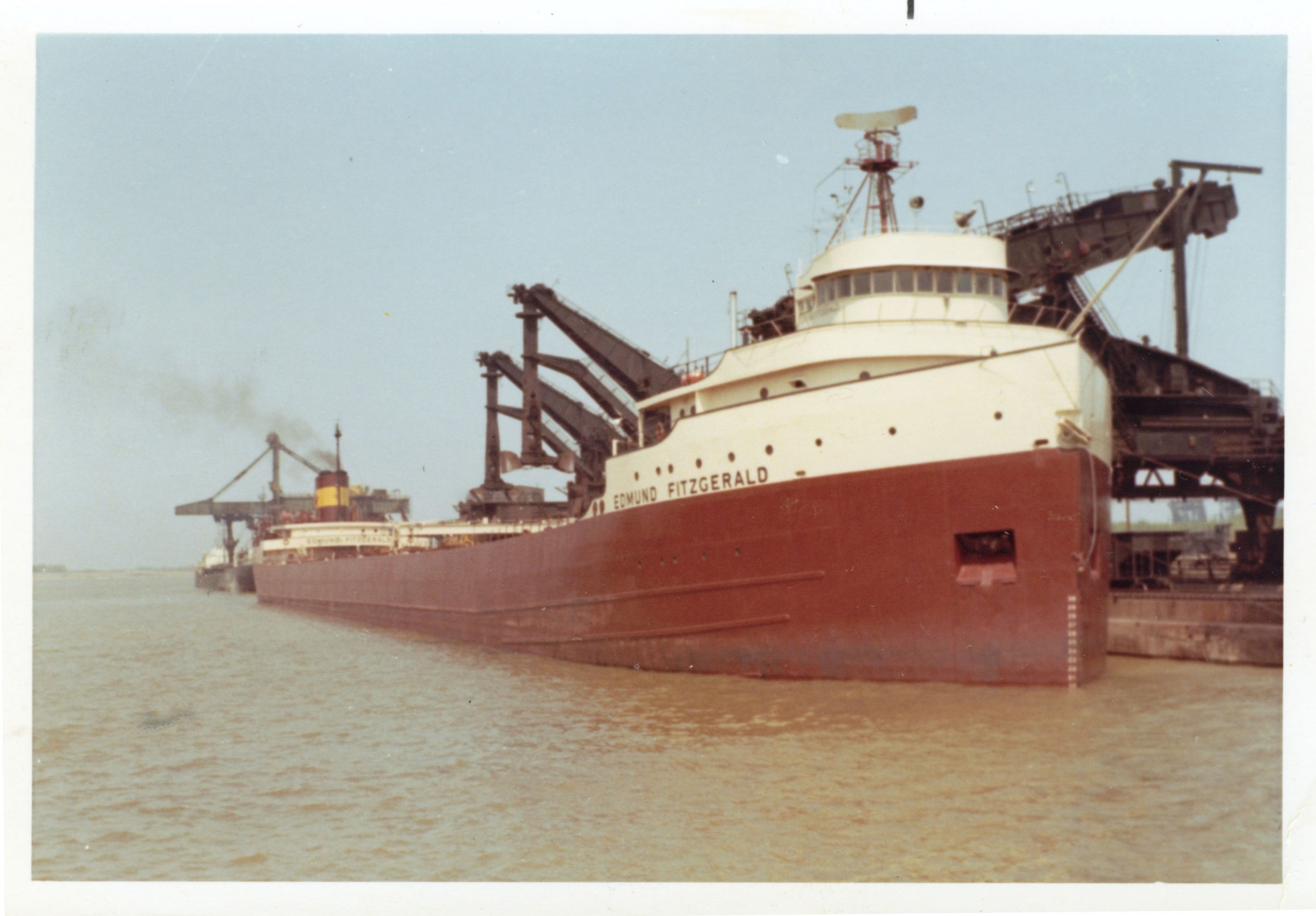 A photo of the S. S. Edmund Fitzgerald taken by Tom Parson, who is from Toledo and sailed on the Fitzgerald in the 1970s. (Photo courtesy of the National Museum of the Great Lakes)