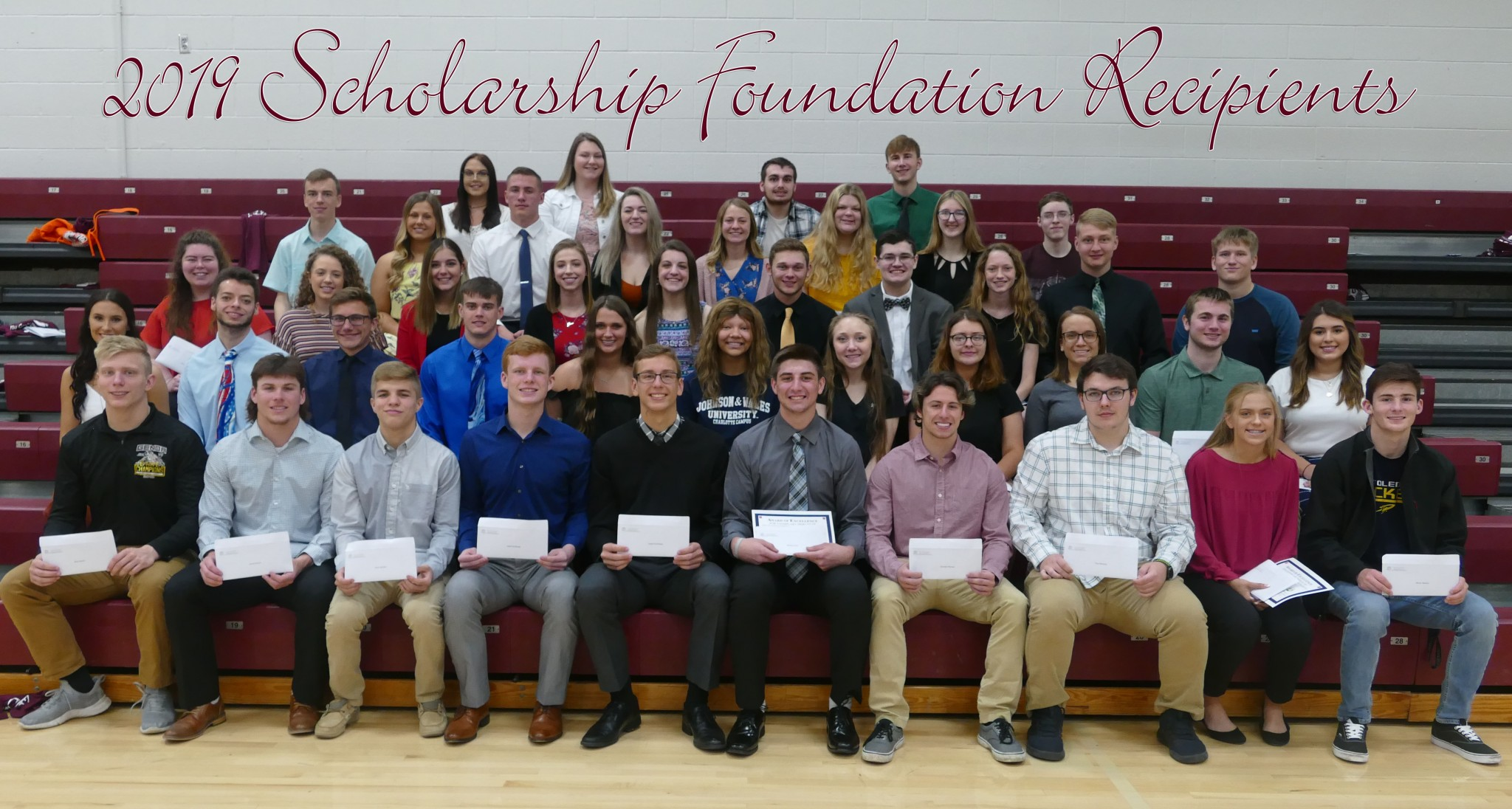 The Genoa Area Local Schools Scholarship Foundation, Inc. announced the recipients of the 2019 scholarships at an Honors Awards Program held May 9 at the high school. This year, 45 students received scholarships through the Foundation. (Submitted photo)