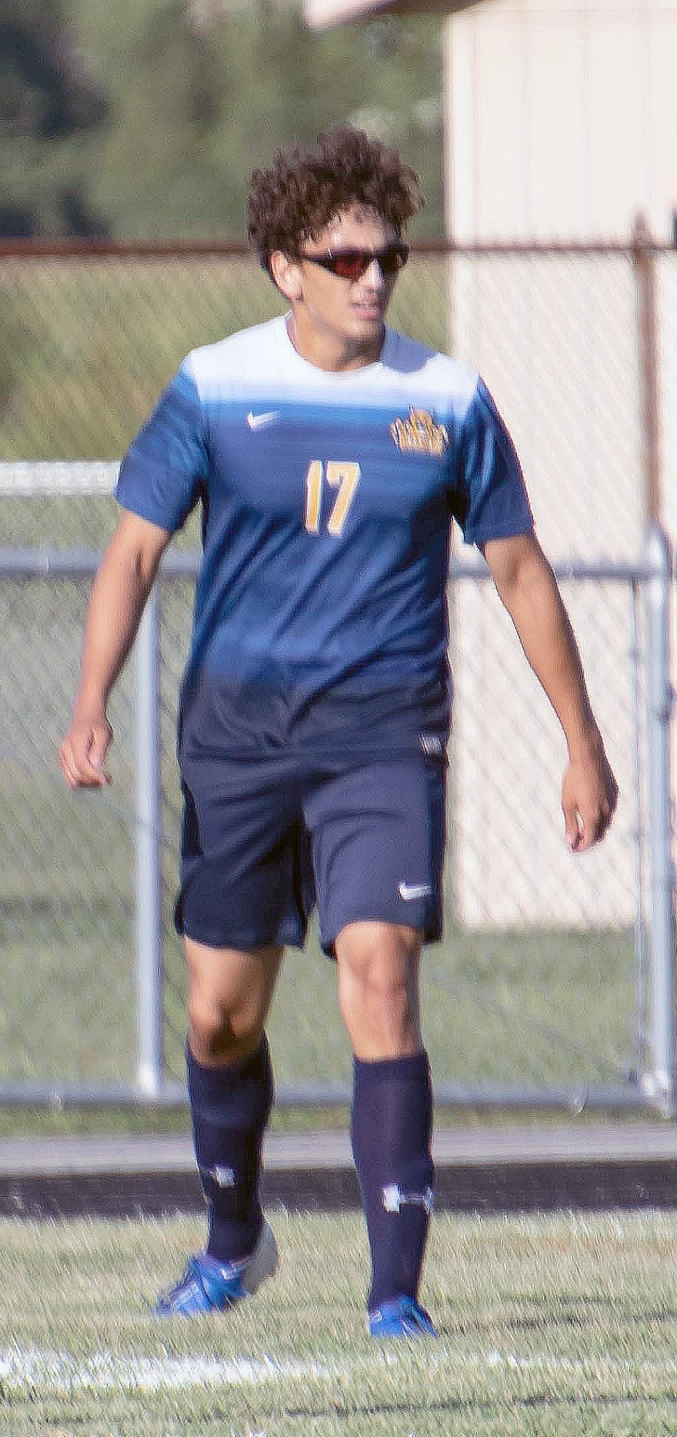 Woodmore senior defenseman Connor Requena. (Press photo by Harold Hamilton/HEHphotos.smugmug.com)