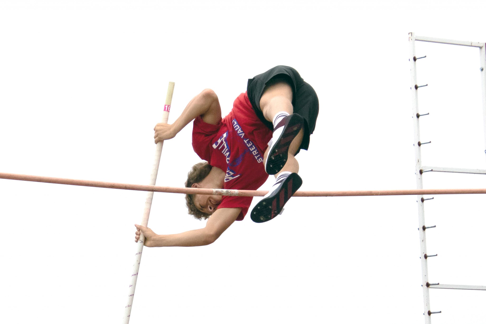 """At the Summer Fest track meet, Eastwood sophomore Dalton Hesselbart cleared 11-6 to place third. (Press photo by Harold Hamilton/<a href=""""http://www.HEHphotos.smugmug.com"""">www.HEHphotos.smugmug.com</a>)"""