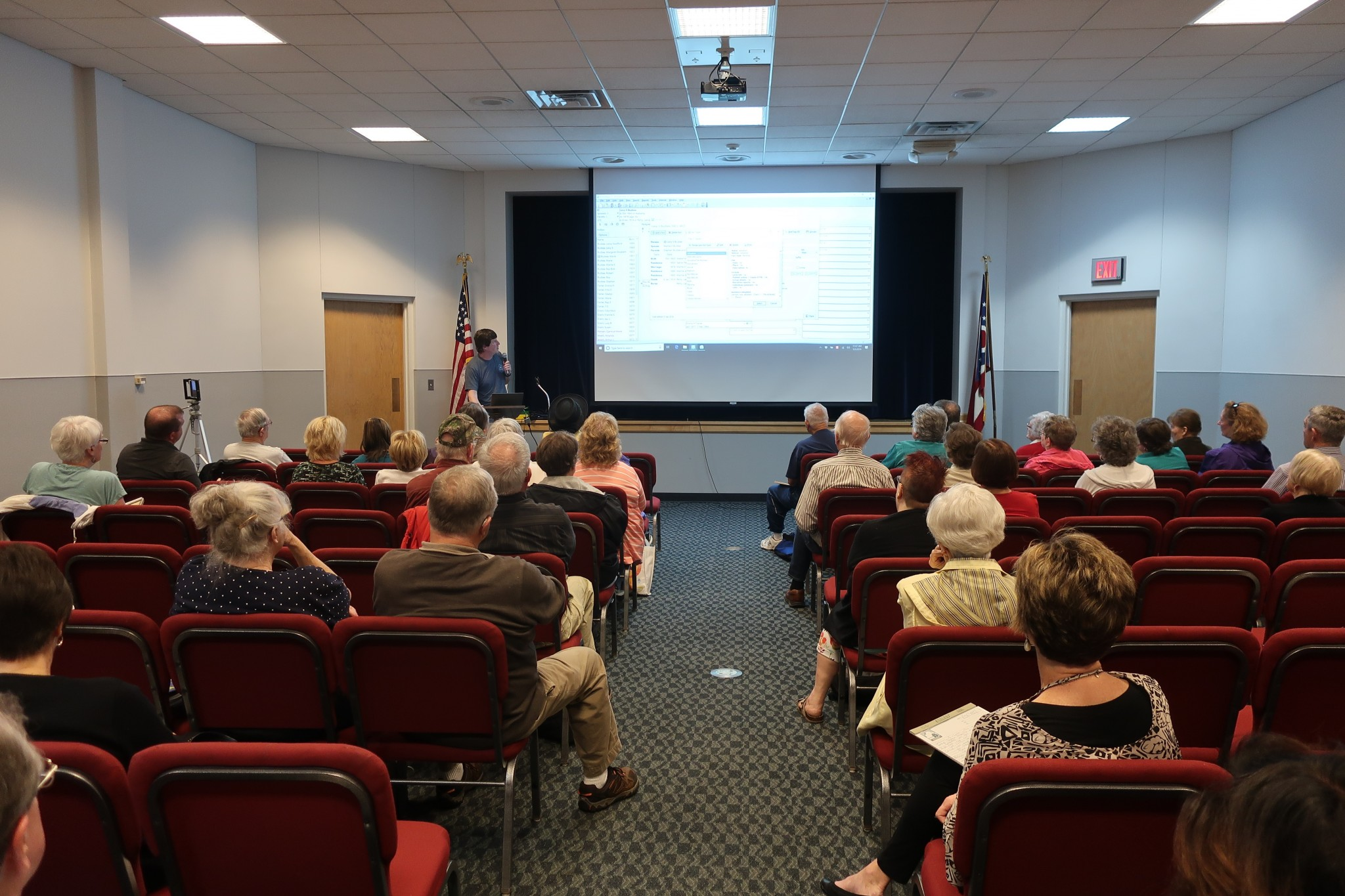 Bruce Buzbee, creator of RootsMagic software, gives a program in May 2019 at the Hayes Presidential Library & Museums. Buzbee will return to help patrons with RootsMagic questions in May 2020. Submitted photo.