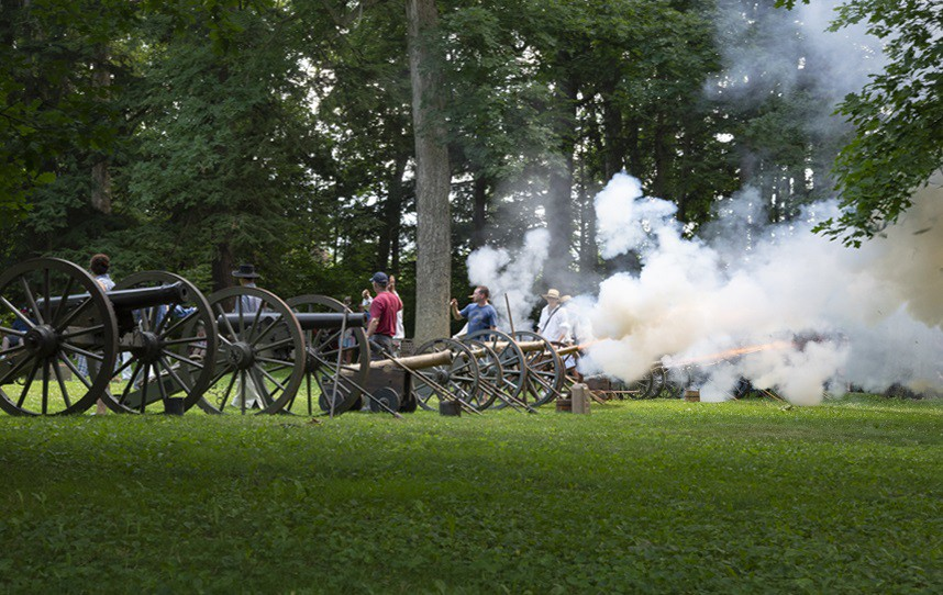 """Cannon fire punctuates the """"1812 Overture"""" during the annual Independence Day Concert at the Hayes Presidential Library & Museums. This year, the concert takes place on Thursday, July 4. (Submitted photo)"""