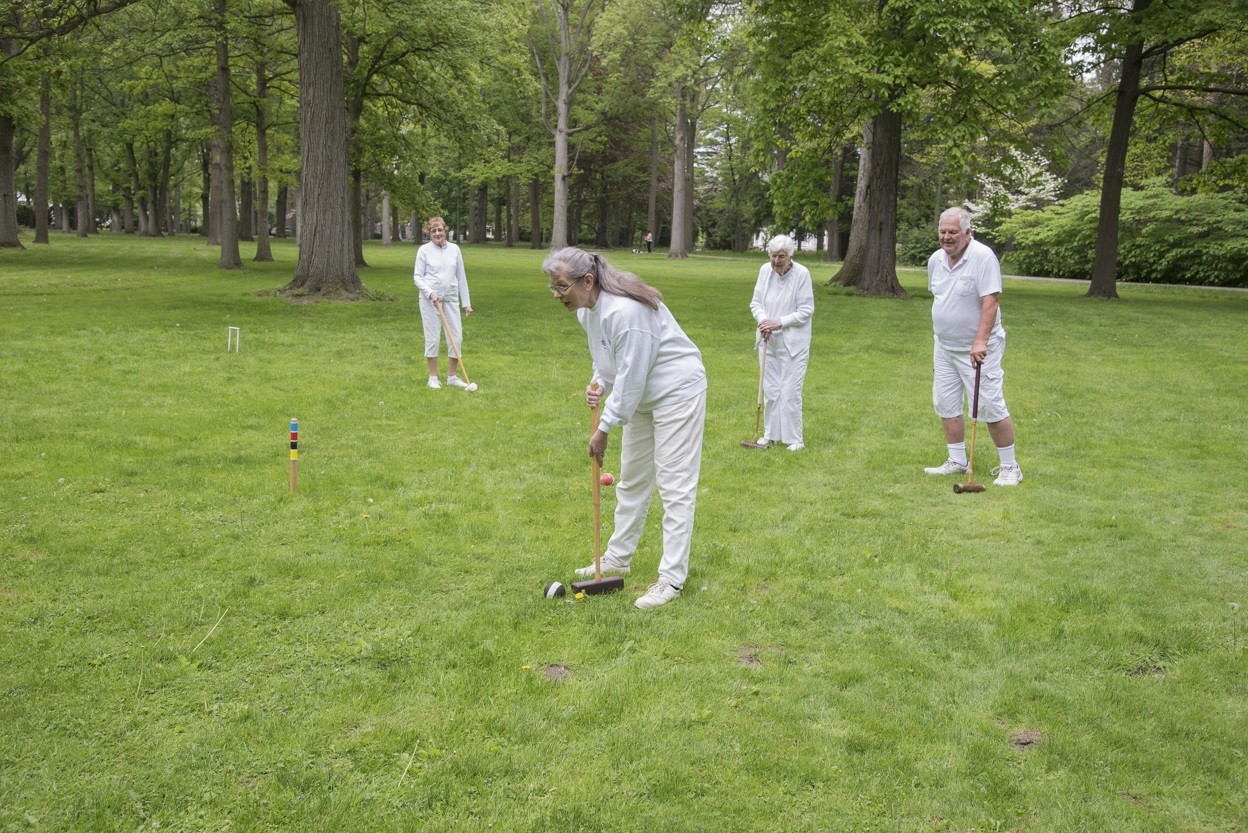 All are invited to play croquet with the Croquet Club at the Hayes Presidential Library & Museums. Matches take place on the lawn of the Hayes Home. (Submitted photo)