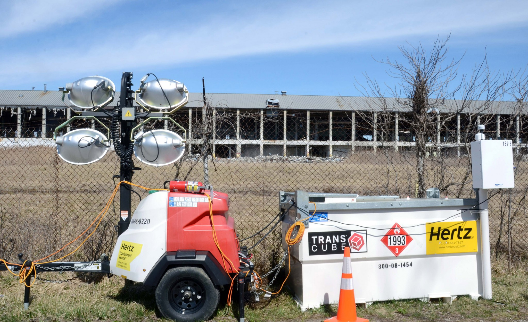 The removal of a former production building at the site will provide better access for excavating contaminated soil, according to the Corps of Engineers. (Press file photo by Ken Grosjean)