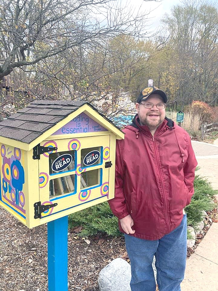 James Dungan serves as the official steward and looks after the Little Free Library located at the Pearson Metropark Playground. (Submitted photo)