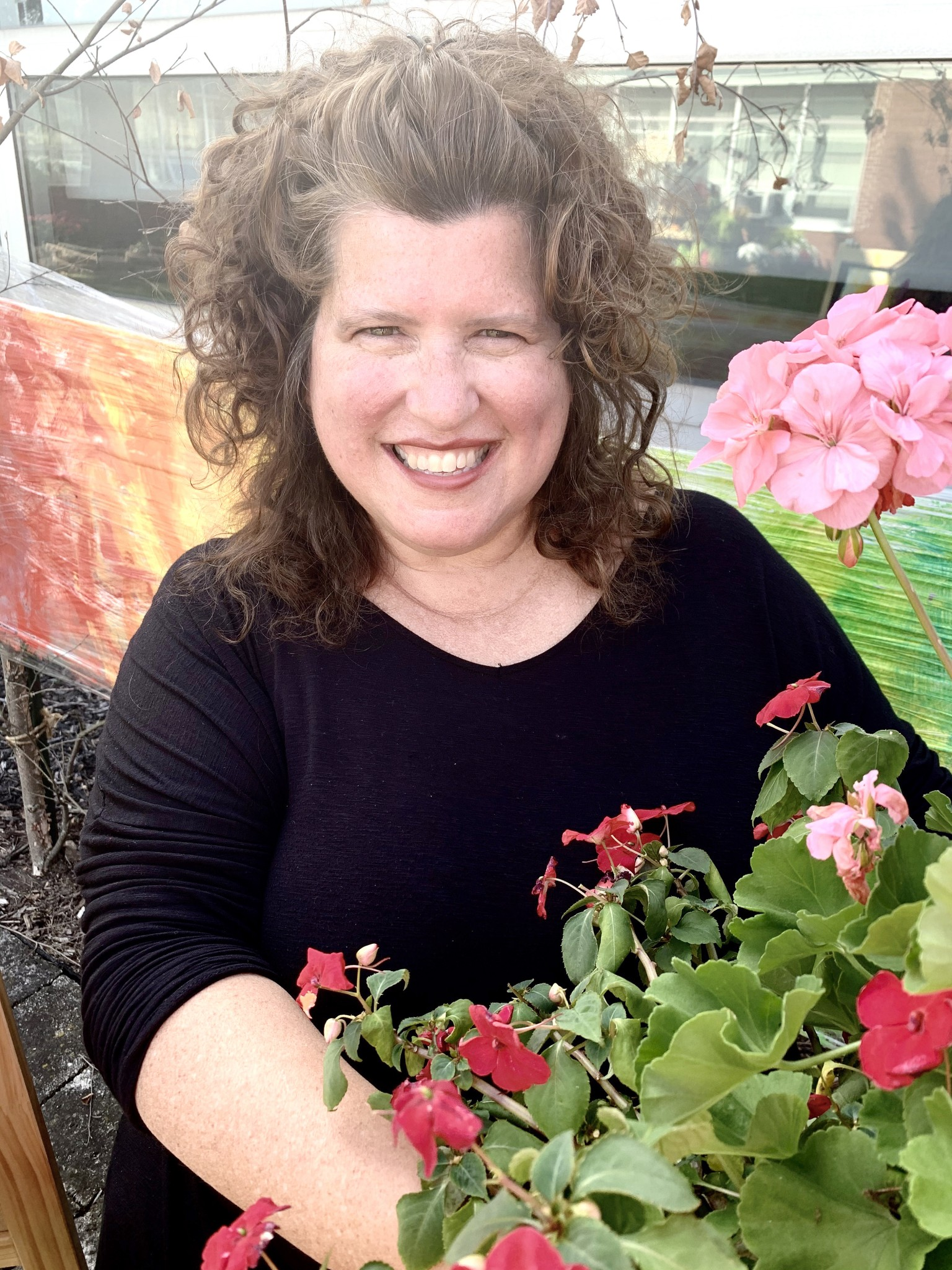 Lake Schools art teacher Laura Lohmann has always found inspiration from nature and art. She recently transformed an unused courtyard into a nature-inspired studio for the district's smallest artists. (Submitted photo)