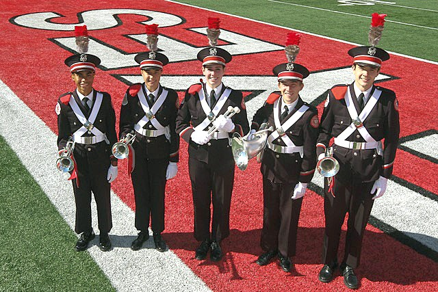 Local band members who will be performing at the Ohio State Marching Band Concert Nov. 29 at Perrysburg High School include Justin Barnes, of Holland; Ruth Bonnice, of Oregon; Sarah Wood, of Waterville; Dawson Taylor, of Whitehouse and Parker Stephens, of Sylvania. (Submitted photo)