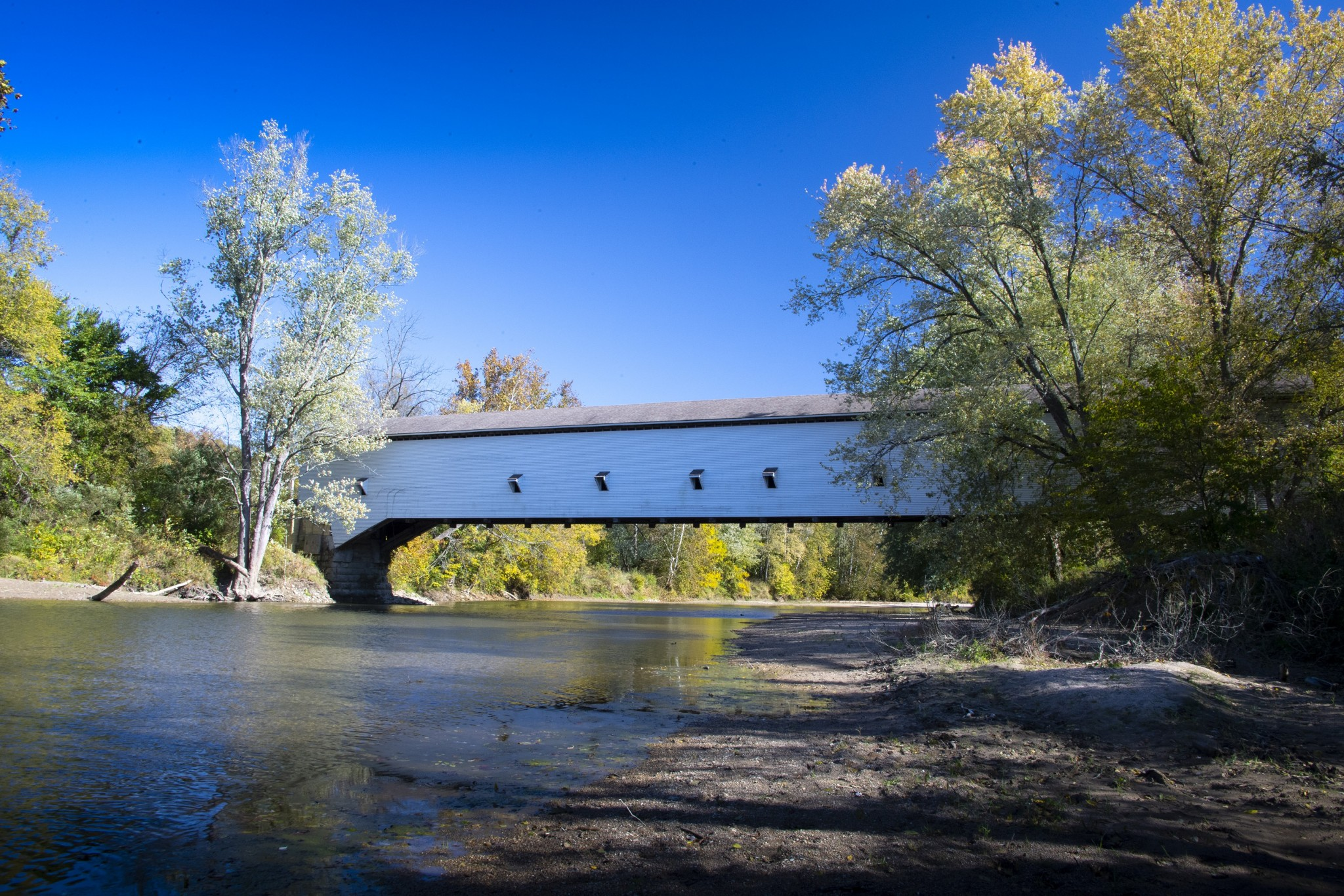 One of the most popular stops in Parke County is the Bridgeton Covered Bridge and Mill, which is still in operation and open to visitors. (Photo by Art Weber)