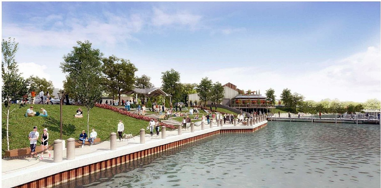 Rendering shows proposed improvements.