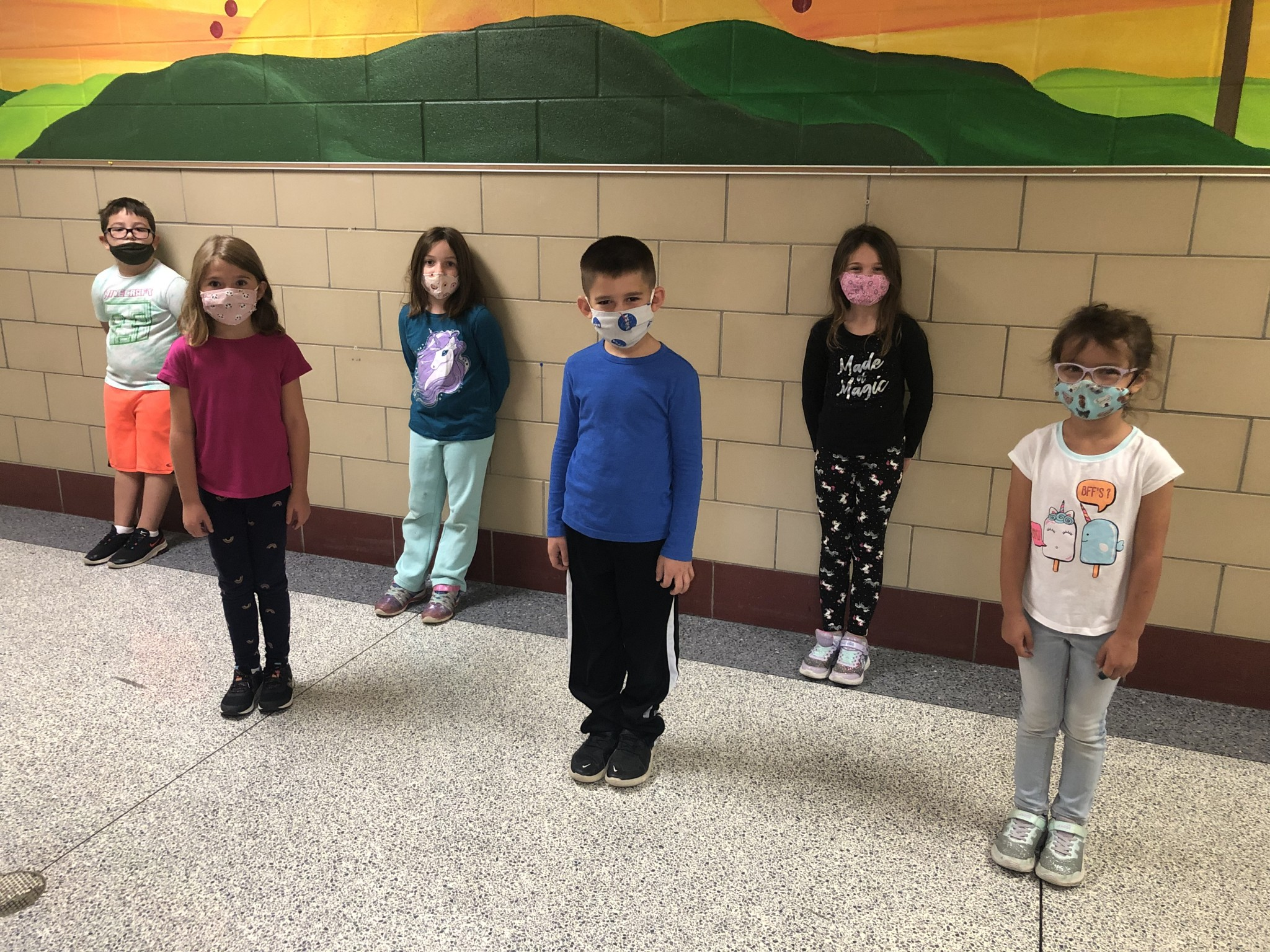 R.C. Waters' first grade  top Class Dojo winners for September. (Submitted photo)