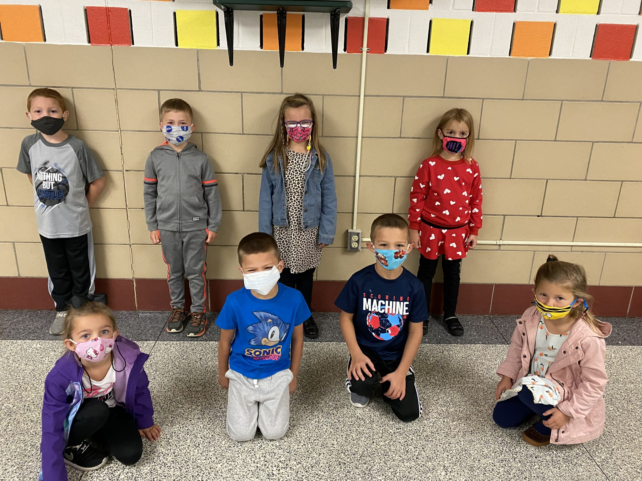 R.C. Waters' kindergarten top Class Dojo winners for September. (Submitted photo)