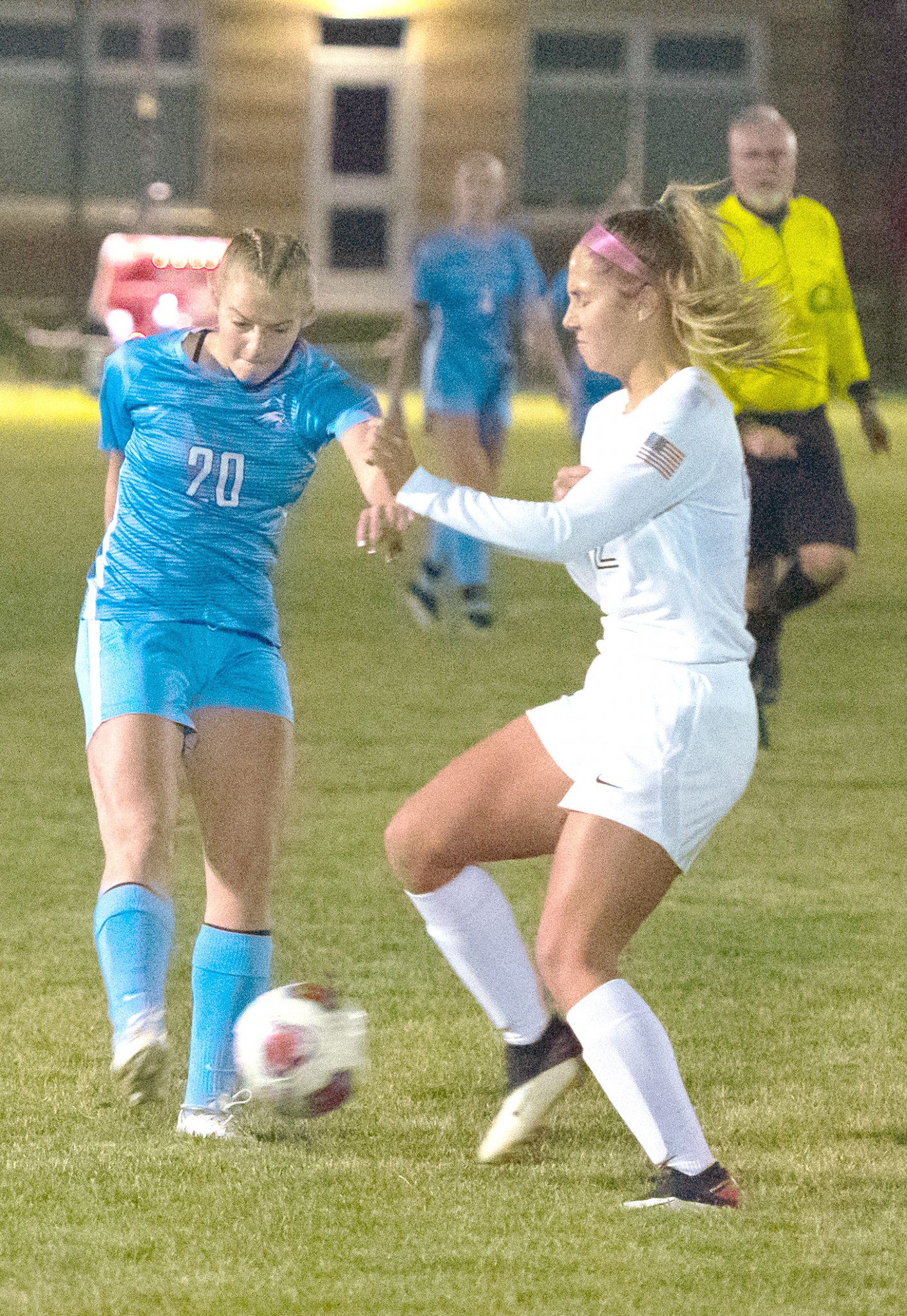 """First team All-Ohioan MaKenna Souder (left). (Press photo by Russ Lytle/<a href=""""http://www.Facebook.com/RussLytle/RHP"""">www.Facebook.com/RussLytle/RHP</a>)"""