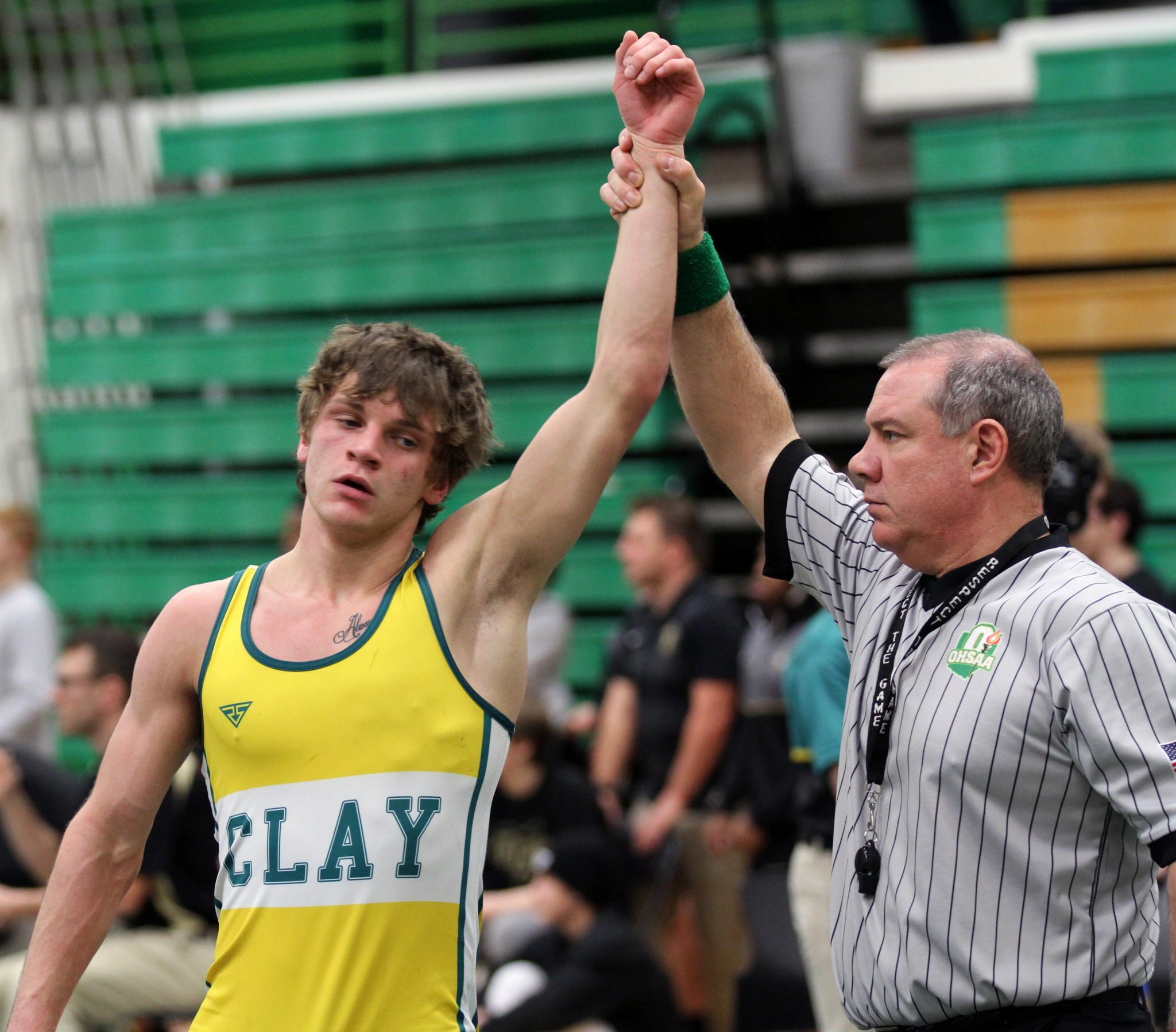 Clay wrestler Mike Daly. (File photo by Rich Wagner)