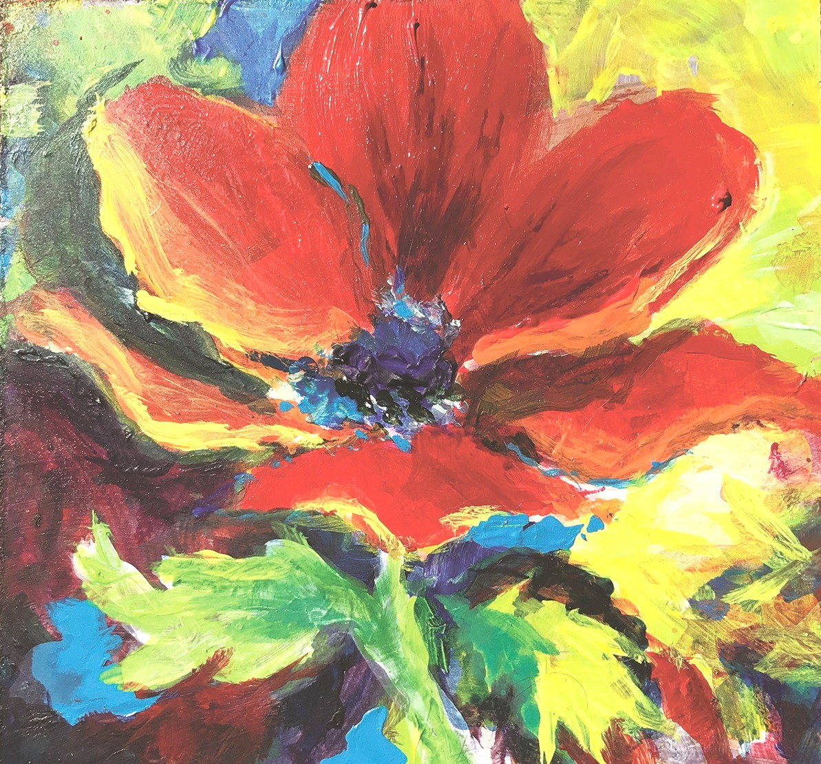 """""""Red Poppy,"""" by Rebecca Booth, of Genoa, an acrylic on panel, is among the works on display in Toledo Federation of Art Society's juried exhibition of regional artists, on display at 20 North Gallery in downtown Toledo. (Submitted photo)"""