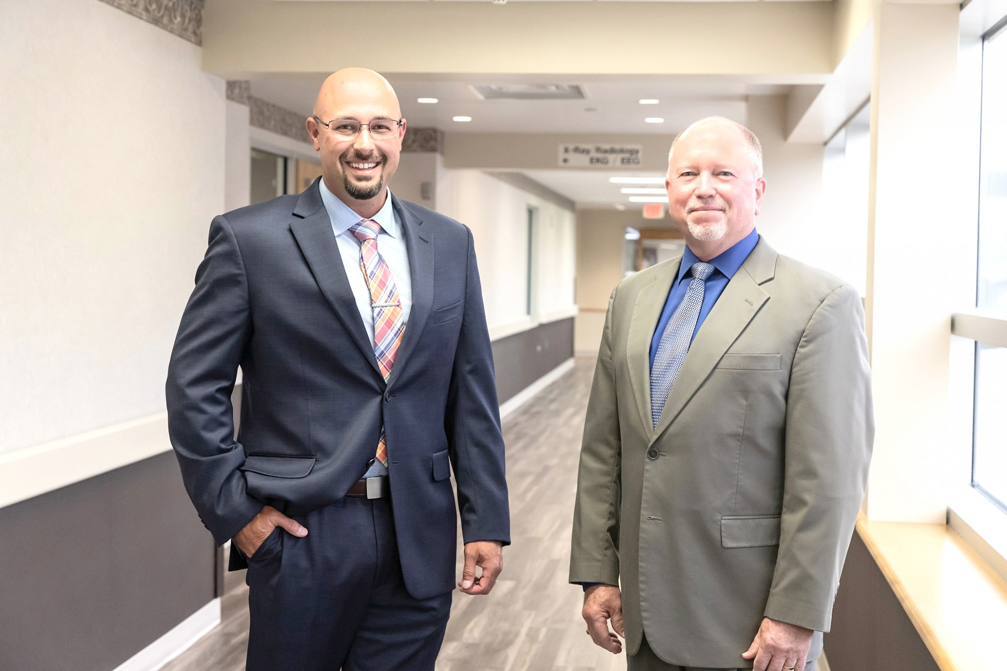 Nick Marsico (left), will become Magruder Hospital's new President and CEO when Todd Almendinger (right) steps down at the end of September. Almendinger will be retained as Hospital Senior Advisor until January 2021, when he will begin full retirement. (Submitted photo)