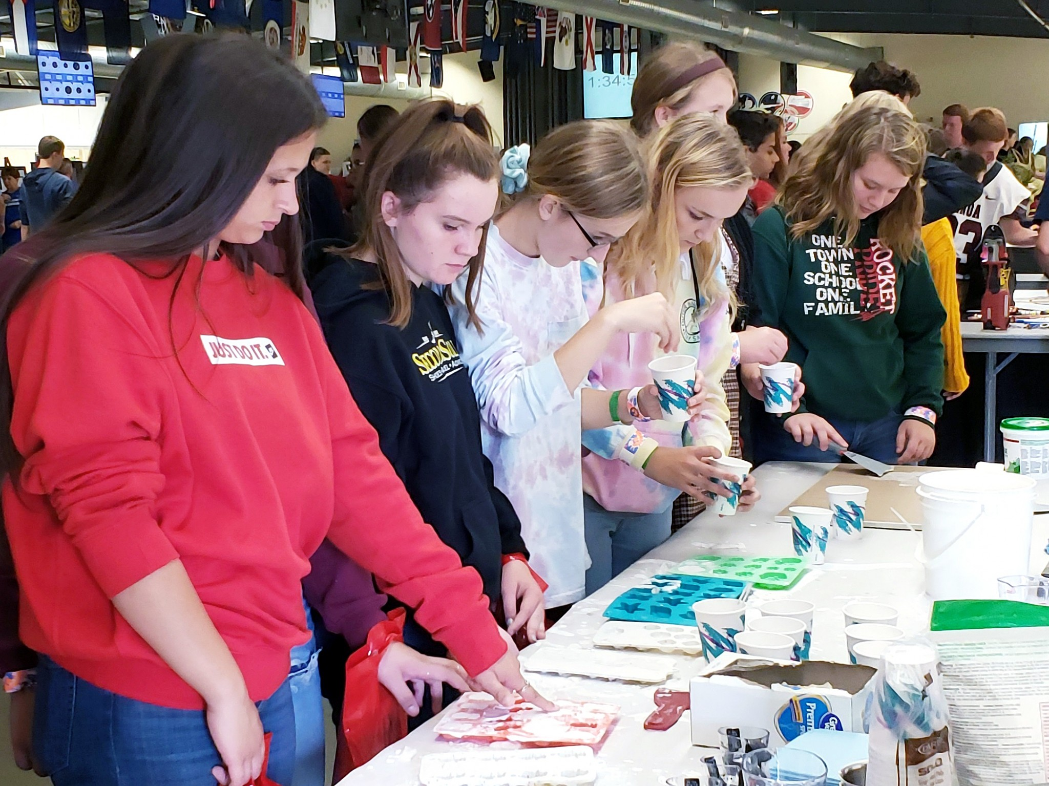 During the Ottawa County Business Advisory Council's annual Career Showcase event, Ottawa County students visiting U.S. Gypsum participated in hands-on activities, asked questions and learn more about career opportunities. (Submitted photo)