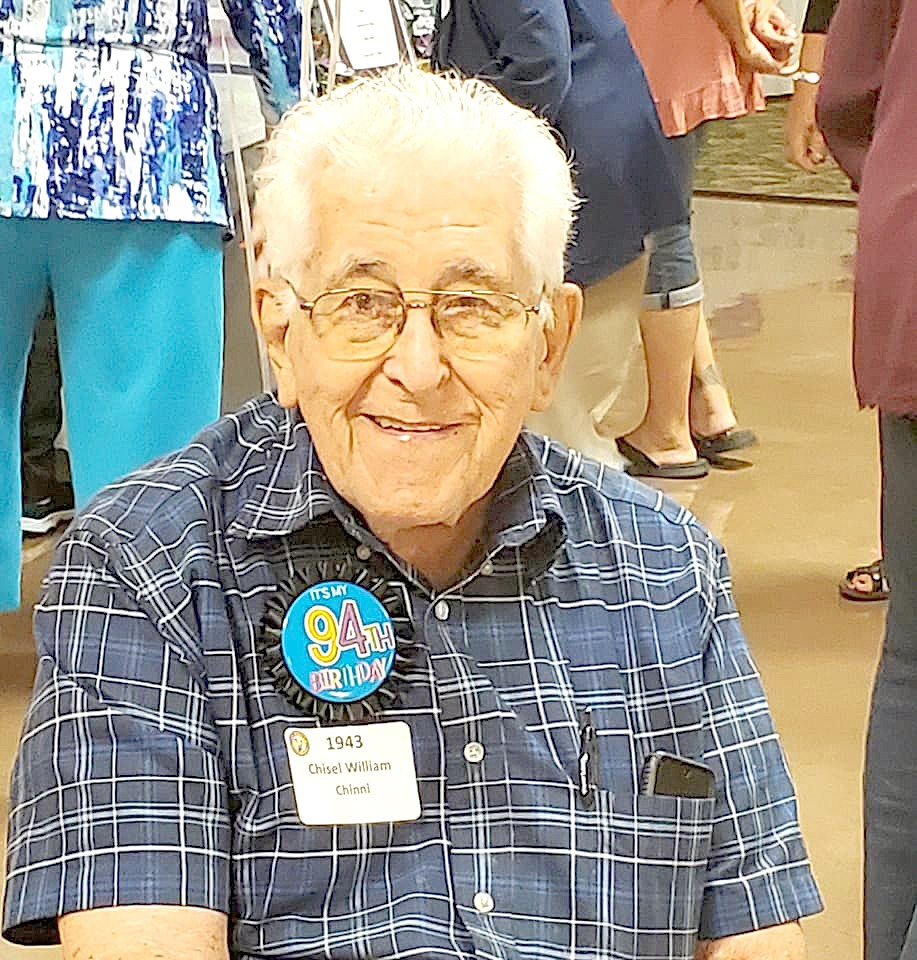 William Chinni, member of the class of 1943, was honored as the oldest classmate. (Submitted photo)
