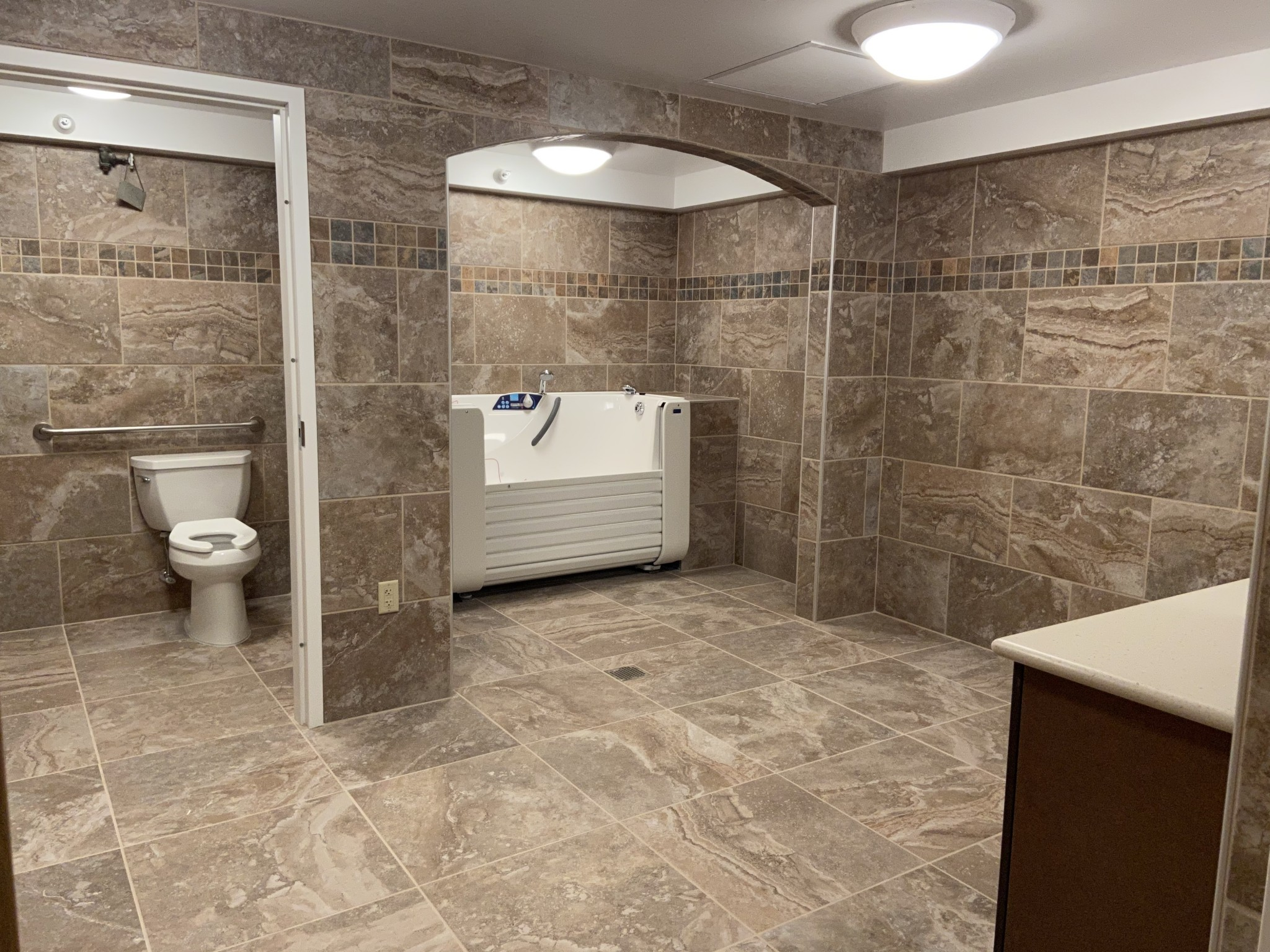 A spa room at Ottawa County Riverview's Hartford on the River Assisted Living features an easily accessible jet tub for residents who prefer a bath over the in-room shower option. (Submitted photo)