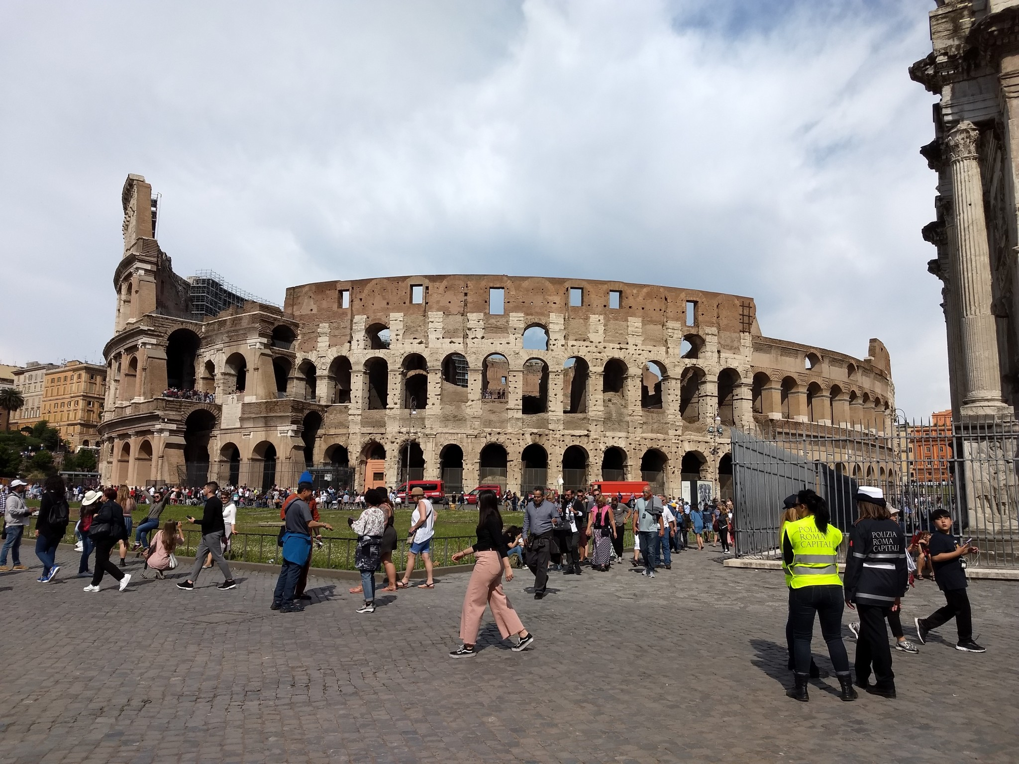 View of the Colosseum's exterior (Photo be Katie Siebenaller)