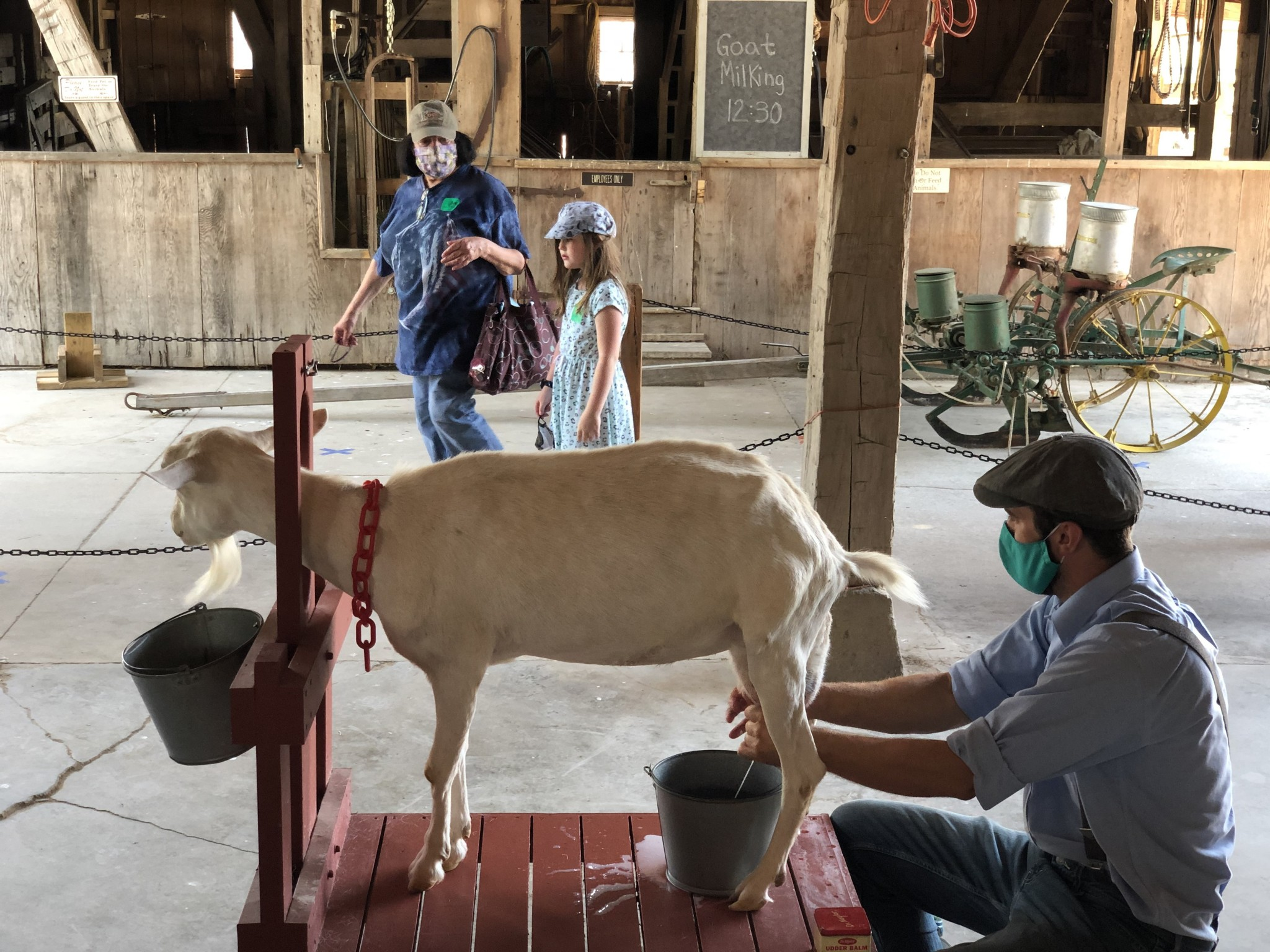 Sauder Village costumed guides and working craftsmen help bring history to life for students of all ages. (Photo courtesy of Sauder Village)