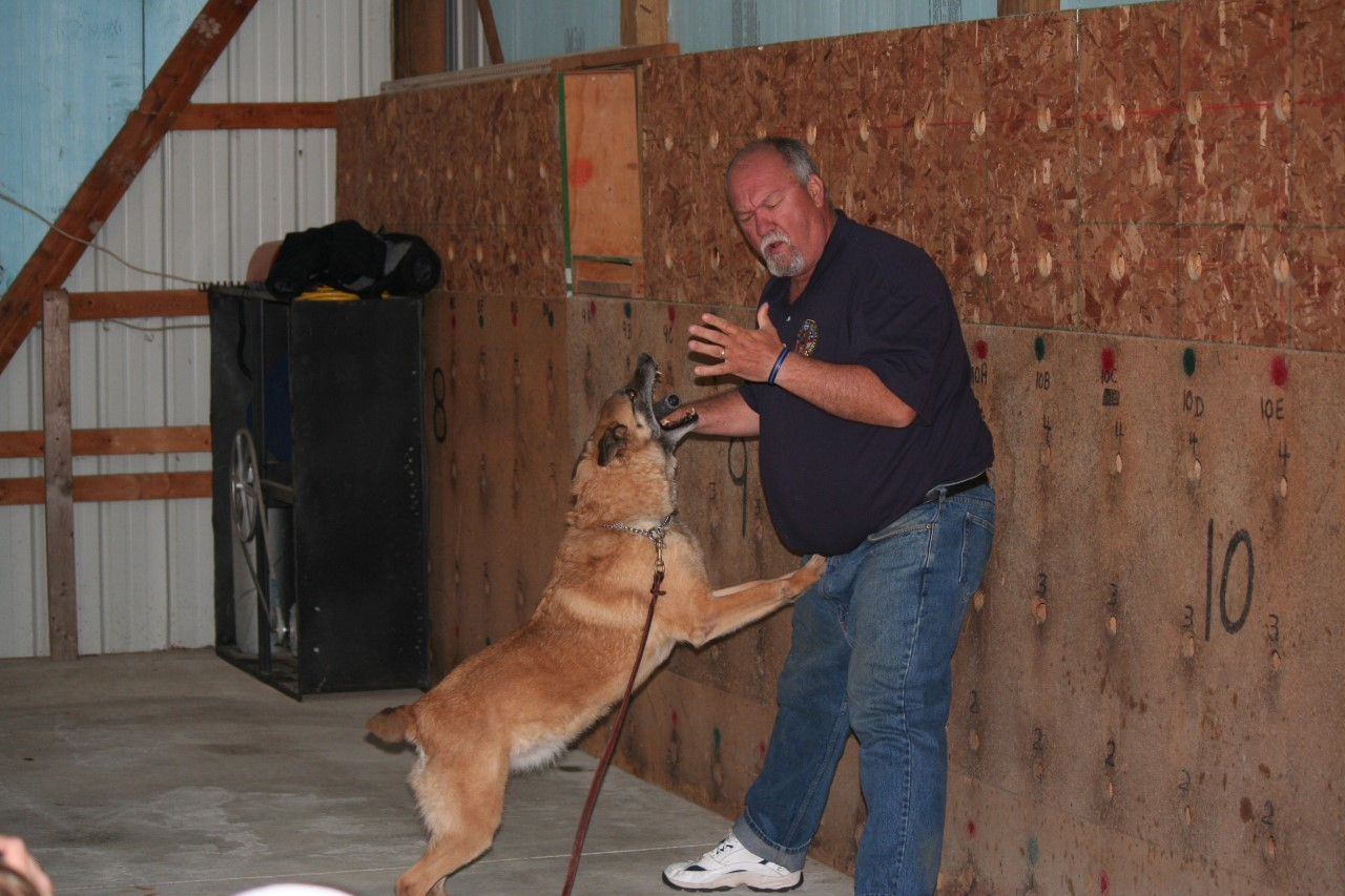 Brian Woods, a retired police K9 officer who has been training dogs for close to three decades, will offer a demonstration of training techniques and K9 skills at dinner May 16. Funds raised will benefit local police K9 units. (Submitted photo)