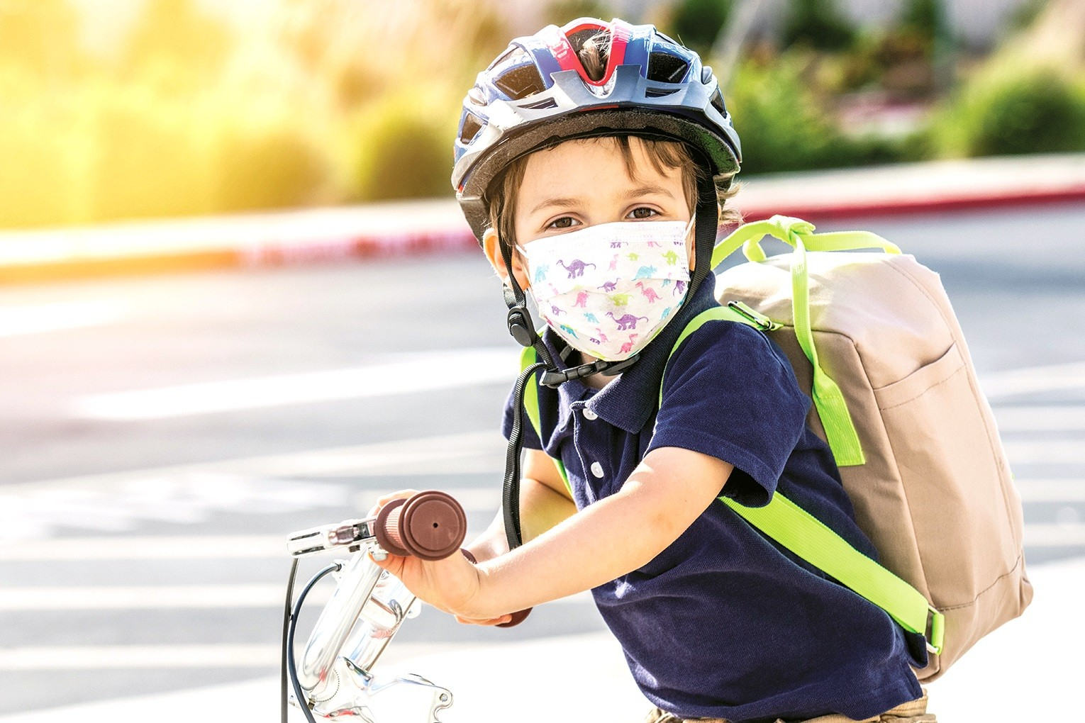 Discussing why masks are important, setting a good example with attitude and mask-wearing and practice can help children adapt to the idea of wearing a face mask.