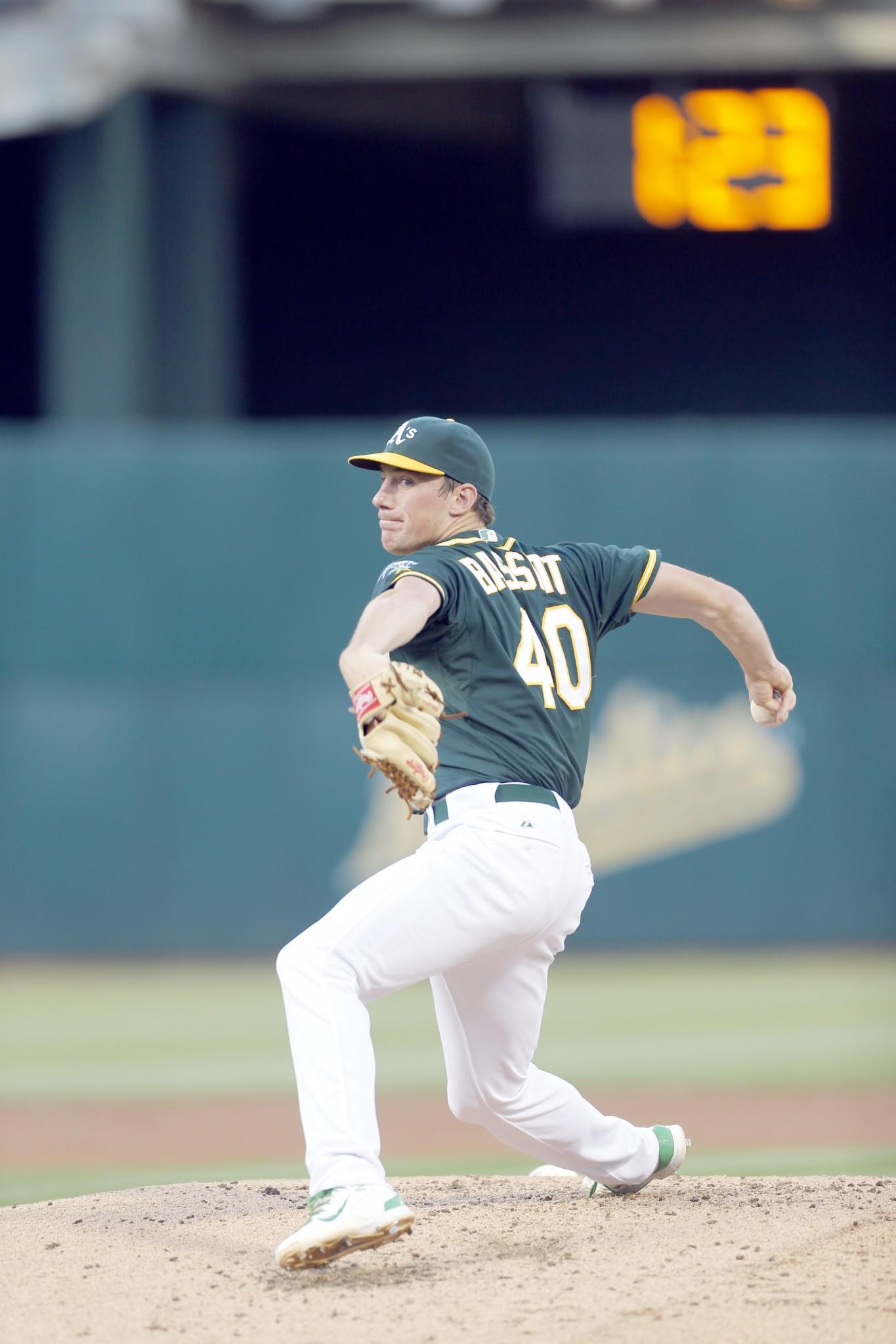 Oakland Athletics pitcher Chris Bassitt (Genoa/University of Akron). (Photo courtesy Oakland A's)