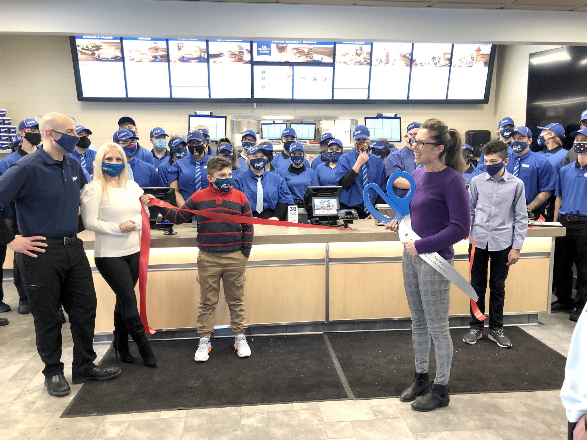 A ribbon-cutting ceremony was held to mark the opening of the Culver's of Oregon restaurant at 2866 Navarre Ave. Owner/operator Ronald Sesi is shown with family members and staff. (Submitted photo)