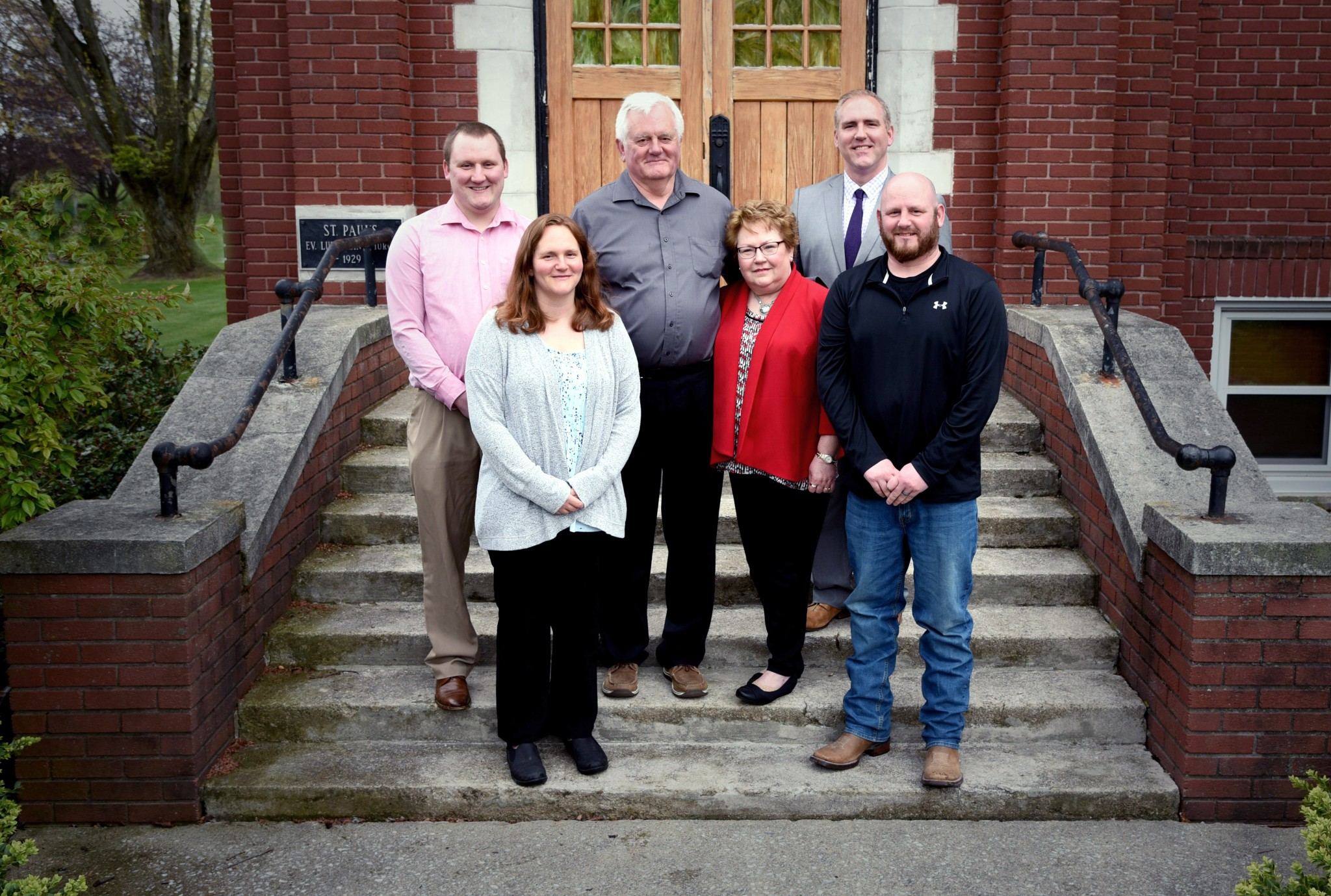 The immediate Frobose family — Back row- Zachary, Robert and Benjamin Frobose. Front row Abigail Frobose Wilcox, Elaine, and Jacob Frobose.