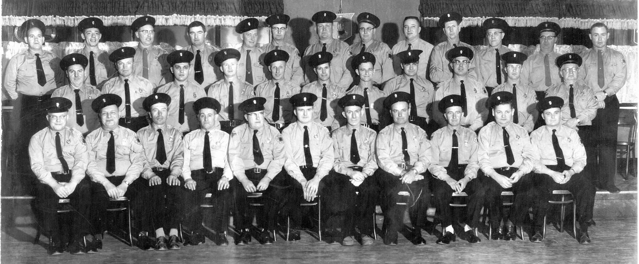 Jerusalem Township firefighters, circa 1950-1957. (Photo courtesy of Fire Chief Tony Parasiliti)