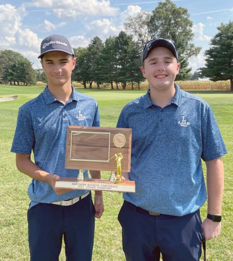 Lake golfers Ben Luoma and Jack Walsh