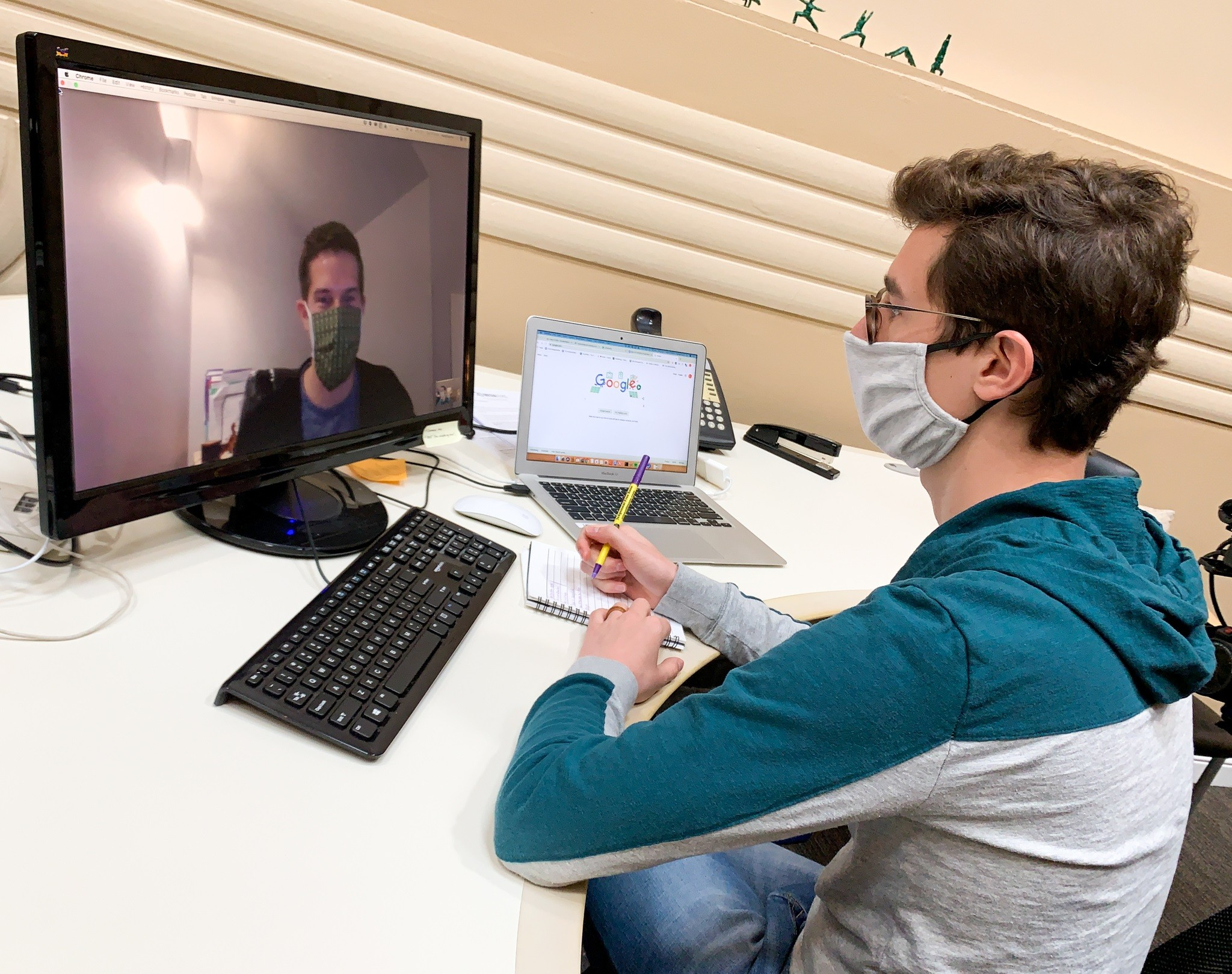 Virtual meetings will still be a helpful tool as Americans return to the workplace and physical distancing continues to be an important precautionary measure to prevent the spread of COVID-19. (Photo courtesy of The Ohio State University Wexner Medical Center)