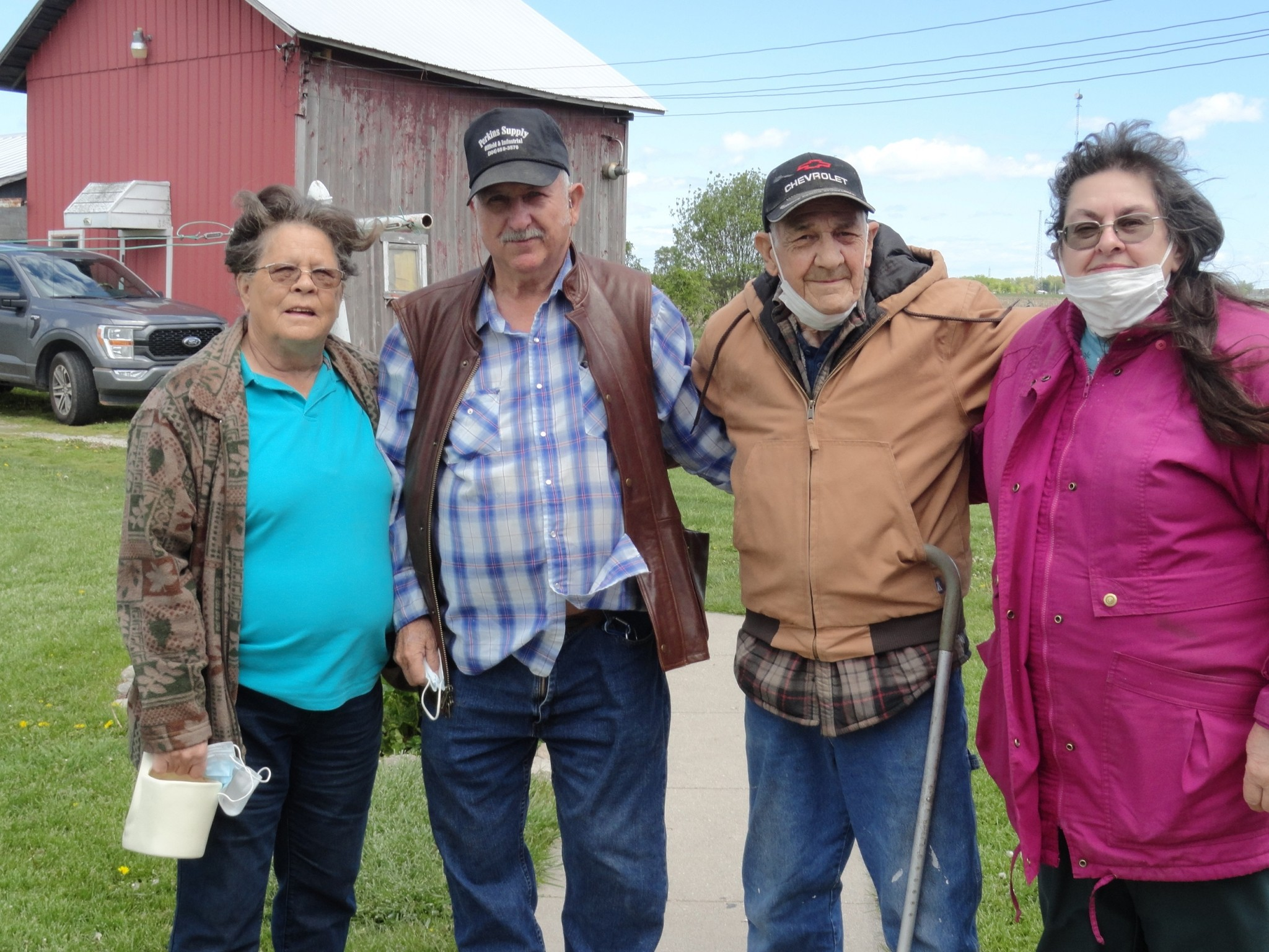 Nancy and Ralph Carpenter (left) made the trip from West Virginia to Northwest Ohio to visit Bernie and Nancy Smith on May 11. (Submitted photo)
