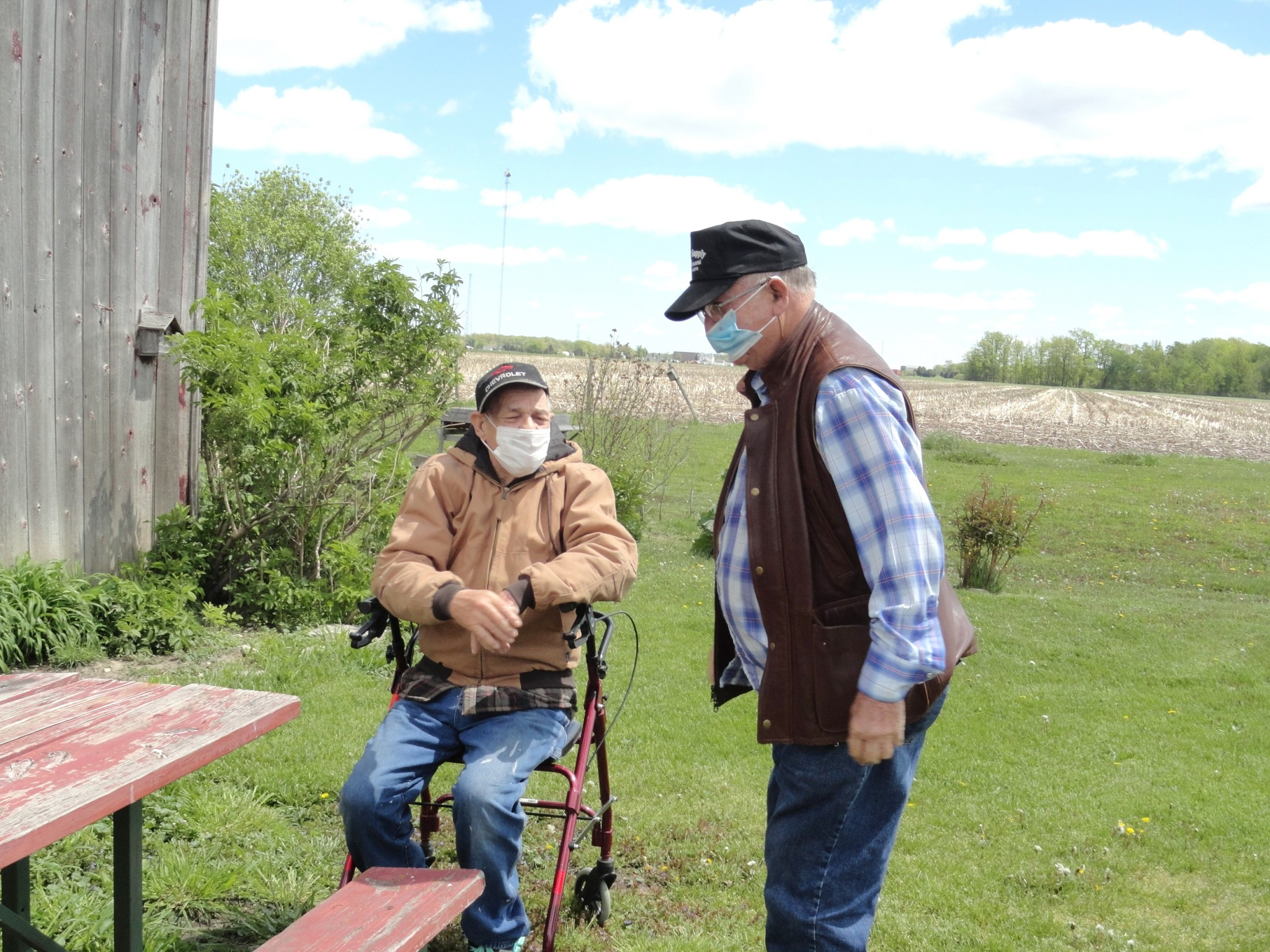 Half-brothers Bernie Smith, (left) who resides just outside of Martin, and Ralph Carpenter, of Spencer, West Virginia, met for the first time on May 11. (Submitted photo)