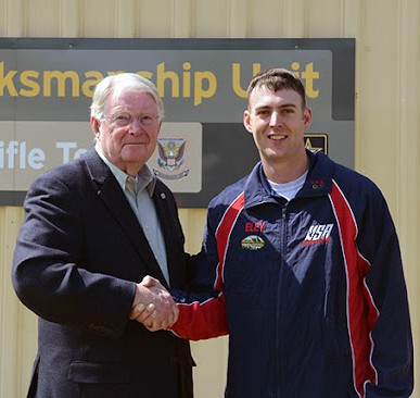Sgt. Nick Mowrer was the 35th marksmanship athlete to become Triple Distinguished. (Photo courtesy CMP)