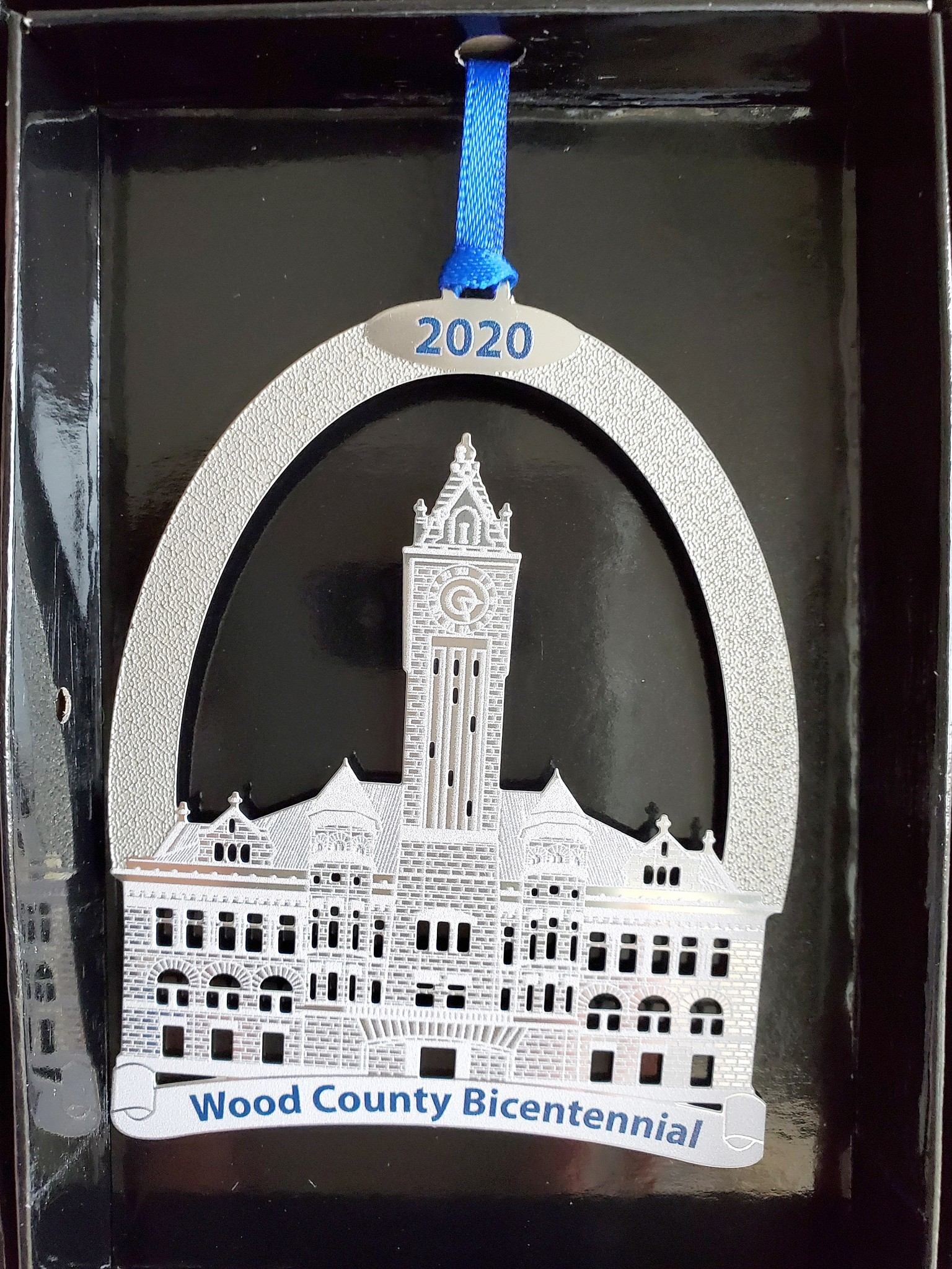 Christmas ornaments celebrating the 200th anniversary of Wood County are now on sale in several locations in the community.