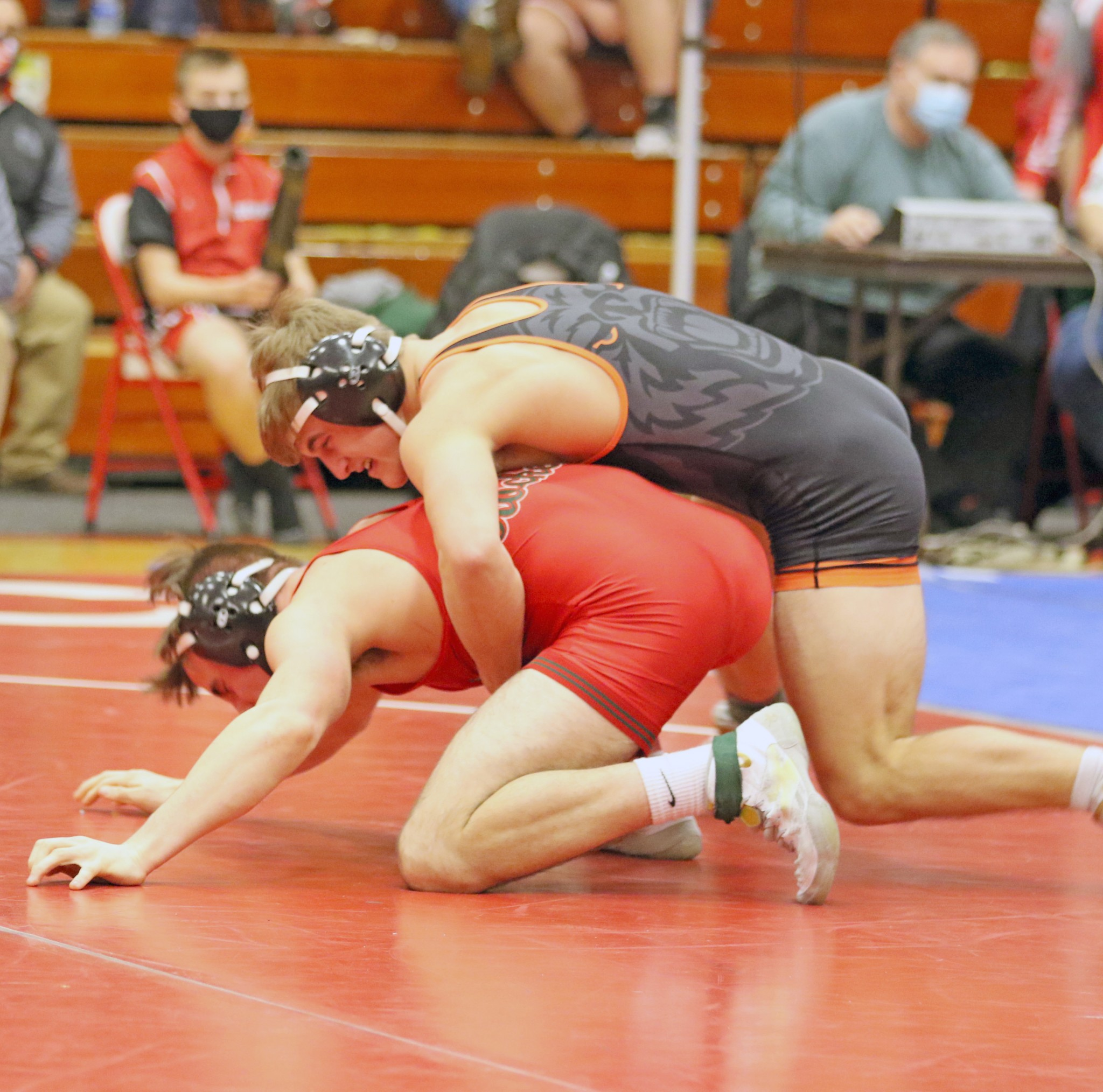 Gibsonburg sophomore Connor Smith finished fourth at 152 pounds during the Division III state meet. (Photo by Doug Hise)