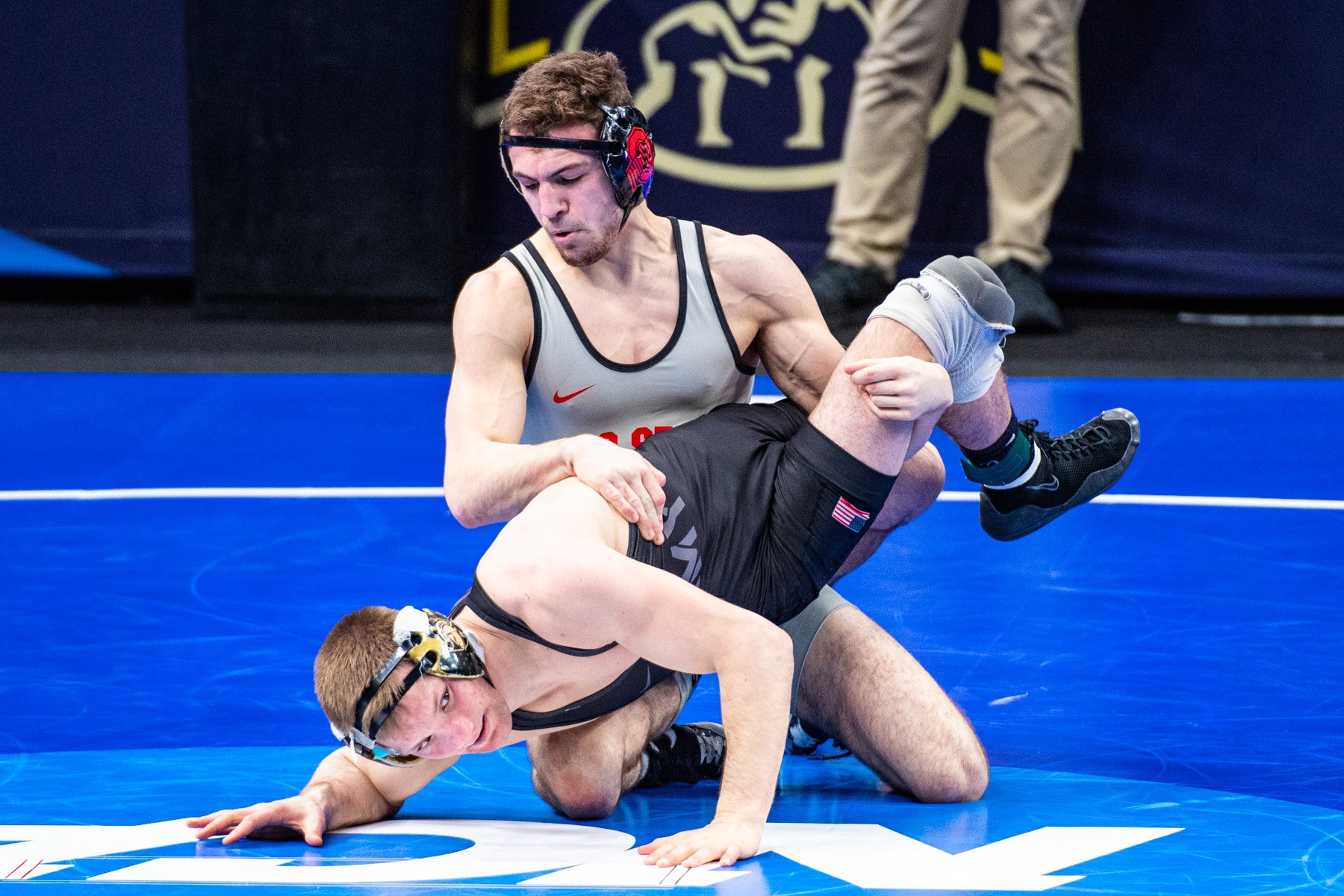 Ohio State wrestler Dylan D'Emilio at the NCAA Division I championships in St. Louis. (Photo courtesy Ohio State Athletics)