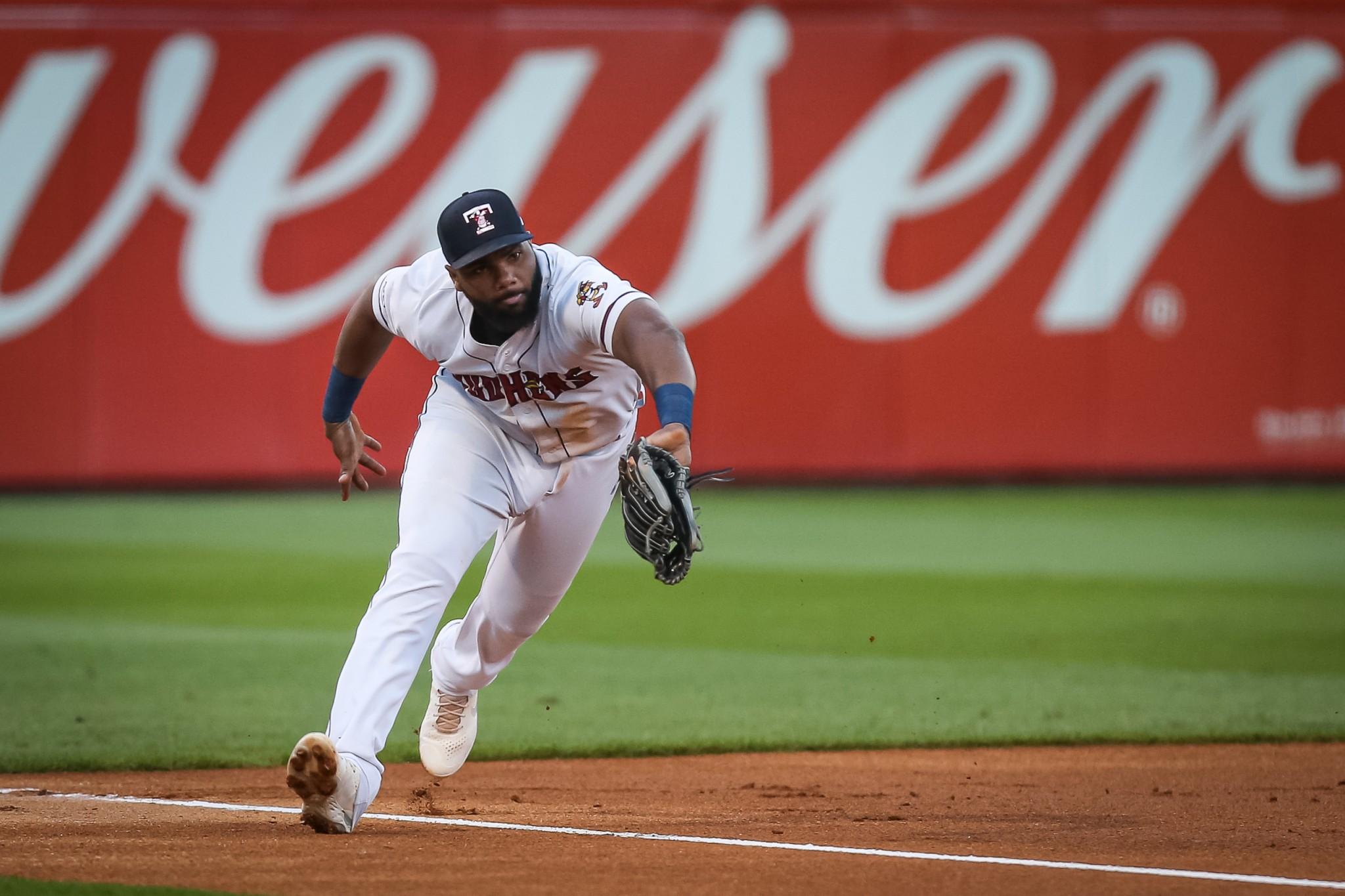 Toledo Mud Hens' third baseman Aderlin Rodriguez, (Photo by Scott Grau courtesy Toledo Mud Hens)
