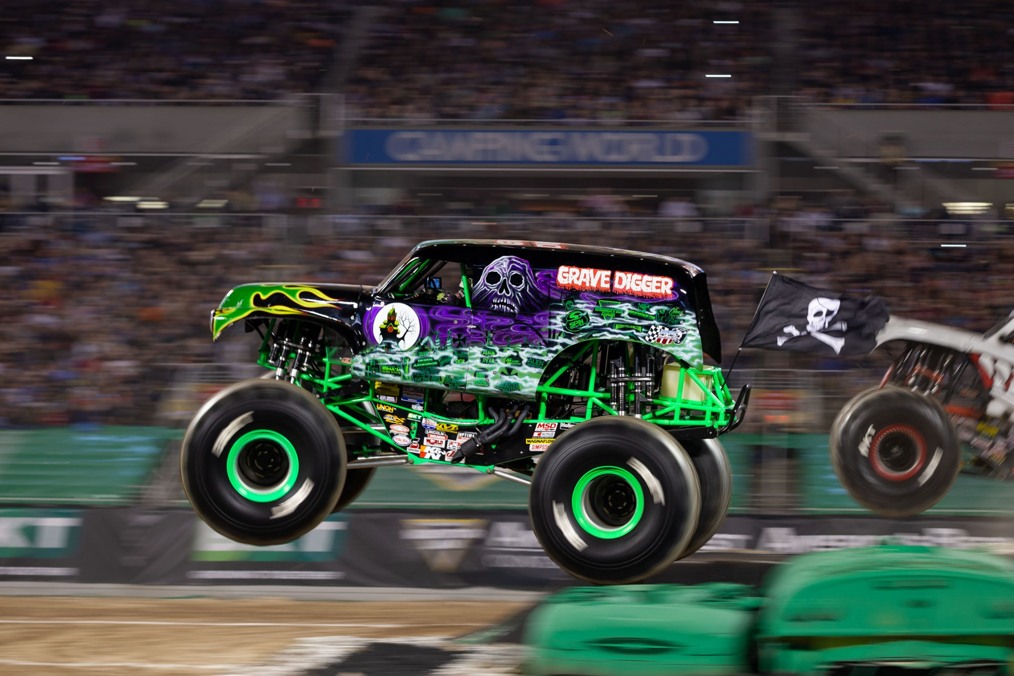 """The all-star truck lineup at Monster Jam, coming to Toledo's Huntington Center Aug. 27-29, will feature many fan favorites including Tyler Menninga in the legendary Grave Digger, the truck that redefined the phrase """"big air."""" (Photo courtesy of Feld Entertainment)"""
