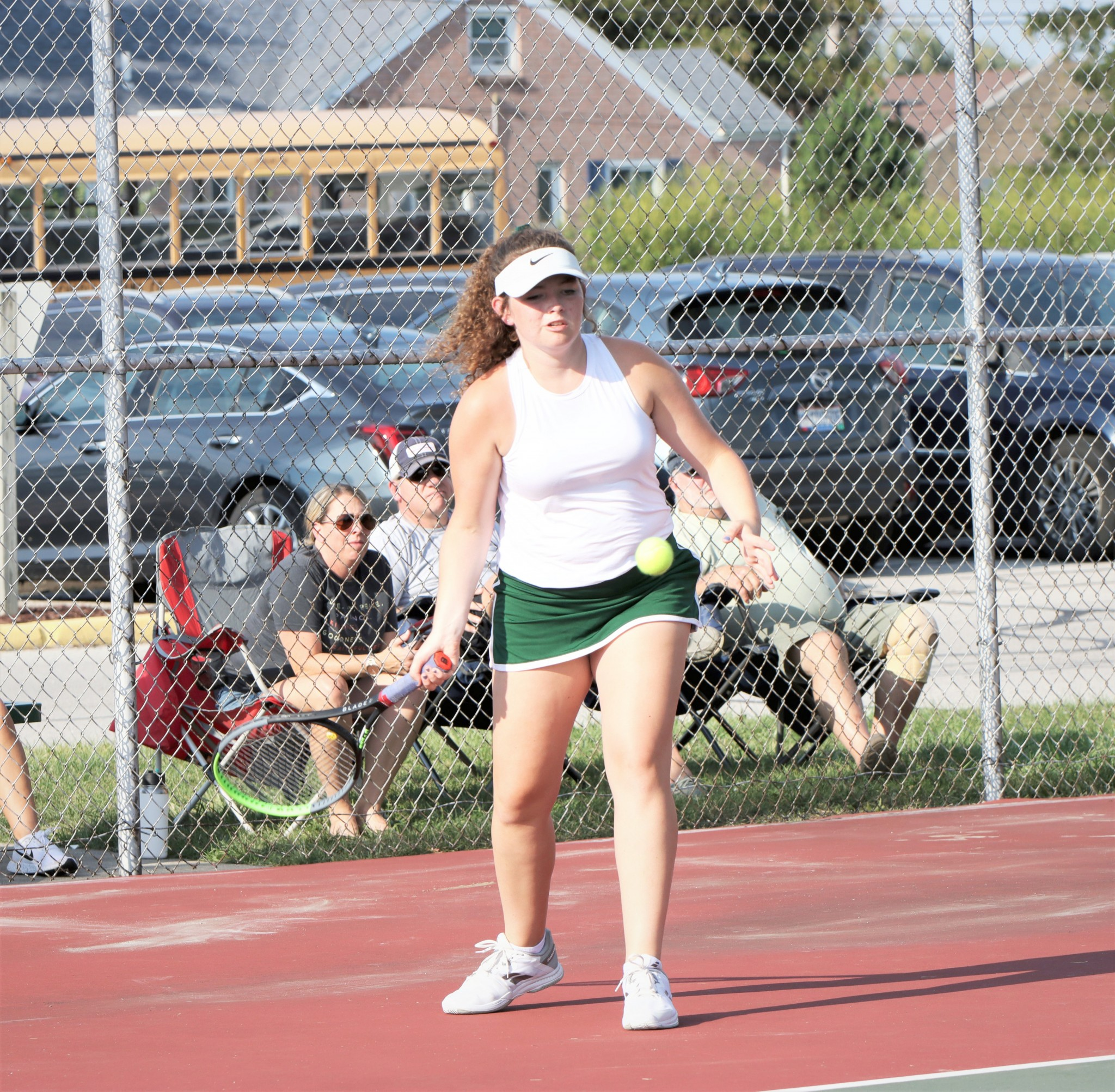 Clay tennis player Kinsley Jahns. (Photo by Laura Bolander)