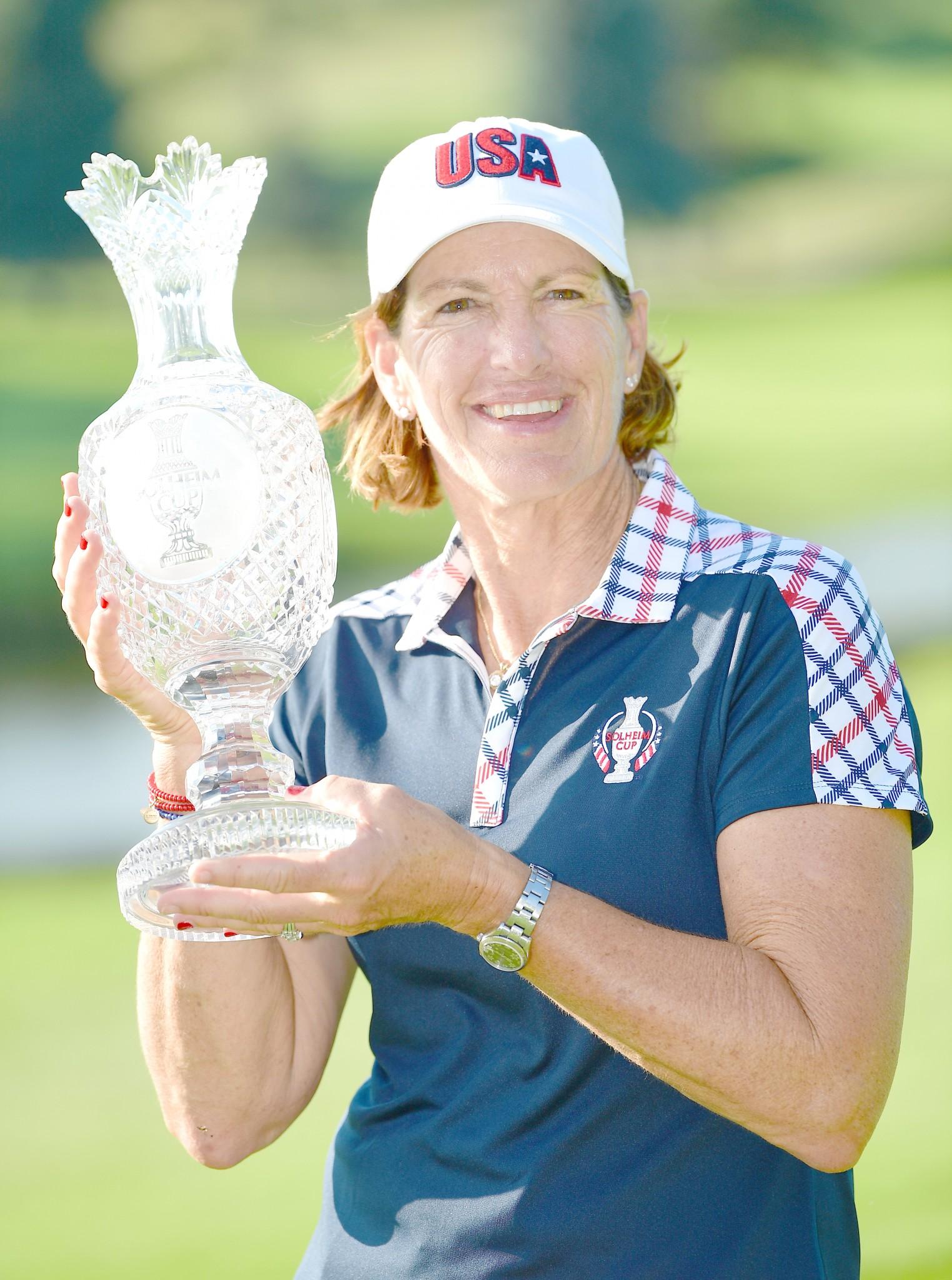 Former Solheim team captain Juli Inkster. (Photo courtesy Getty Images/LPGA)